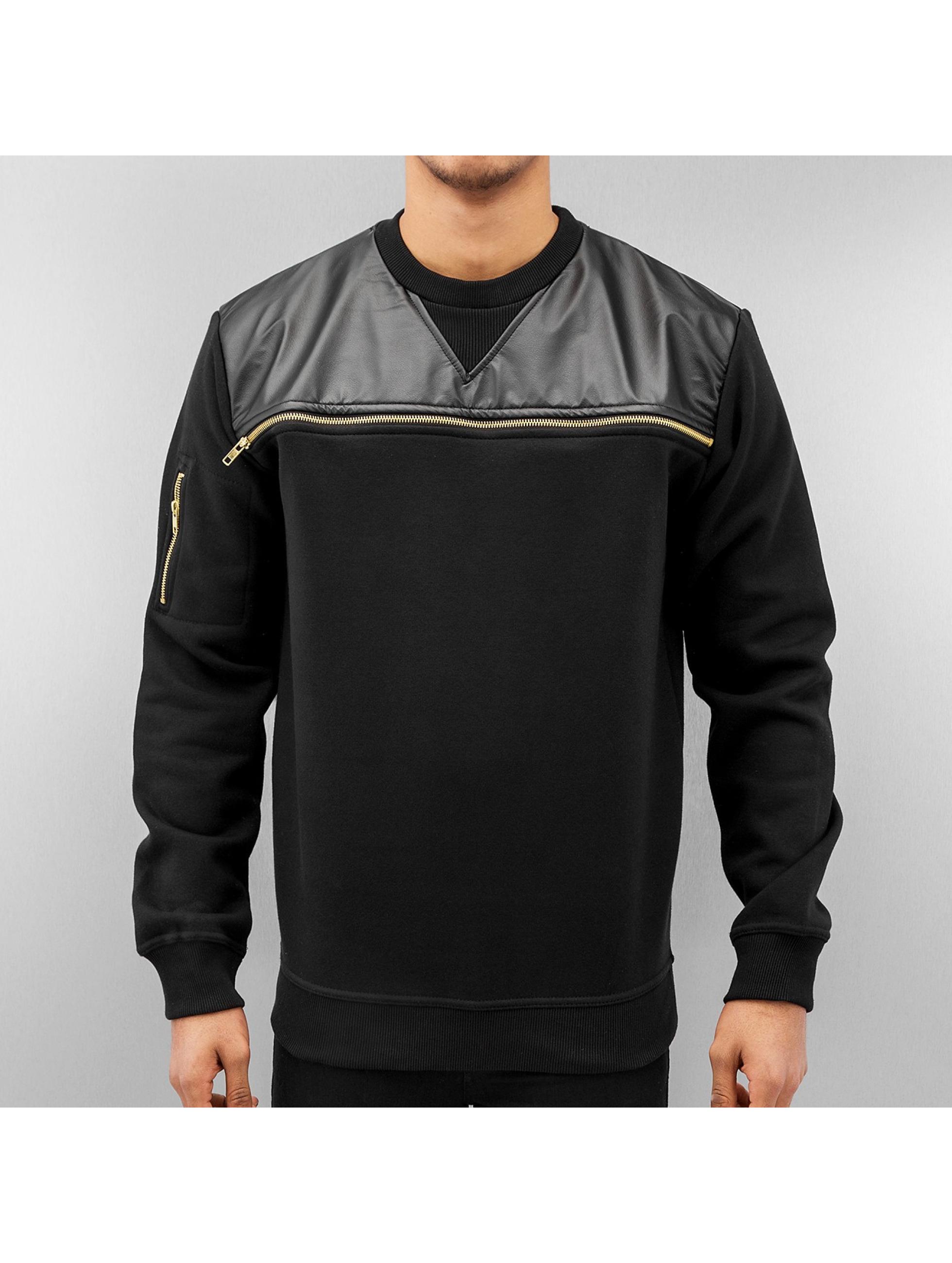Just Rhyse Пуловер Zipper черный