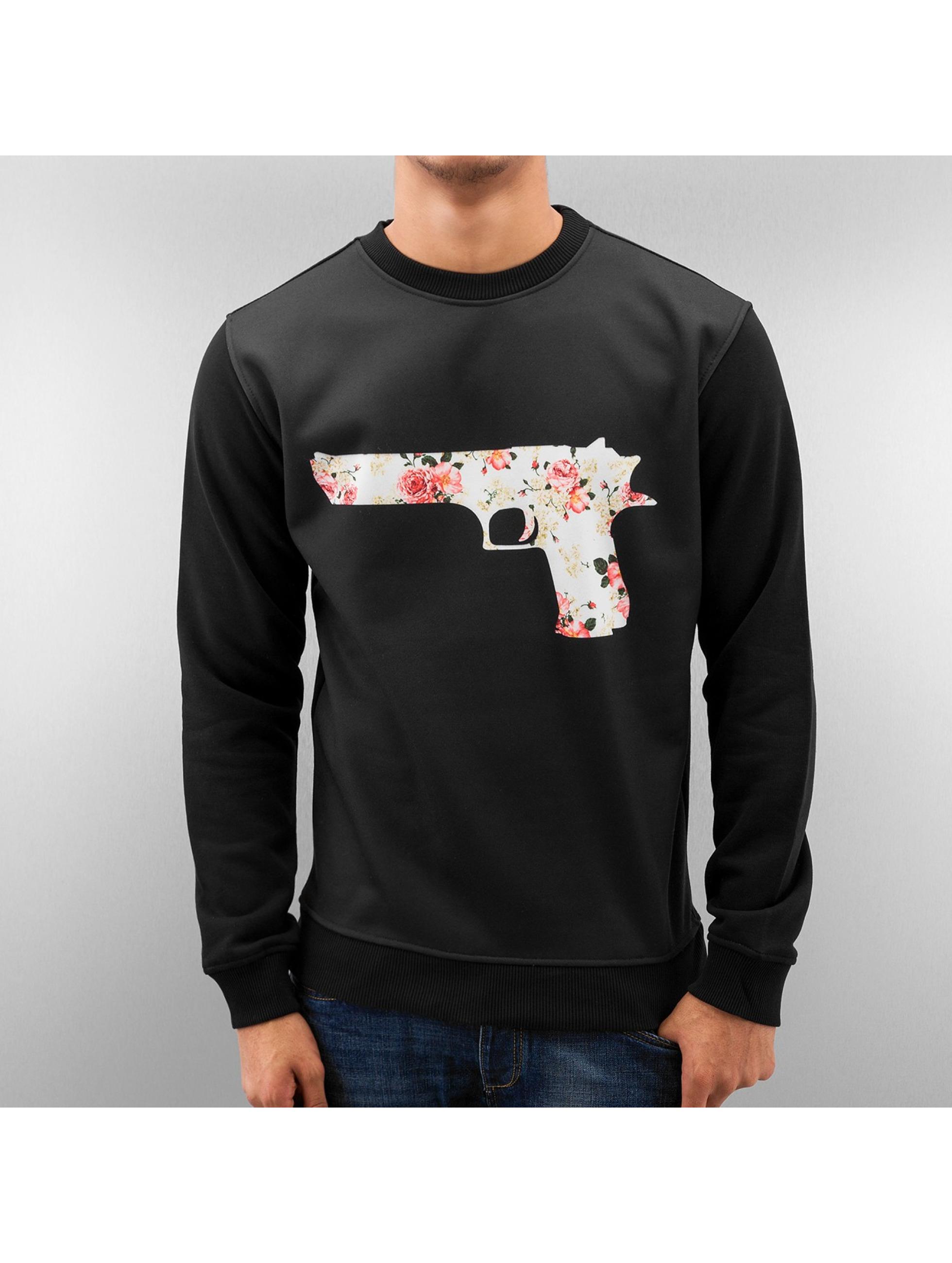 Just Rhyse Пуловер Flower Gun черный
