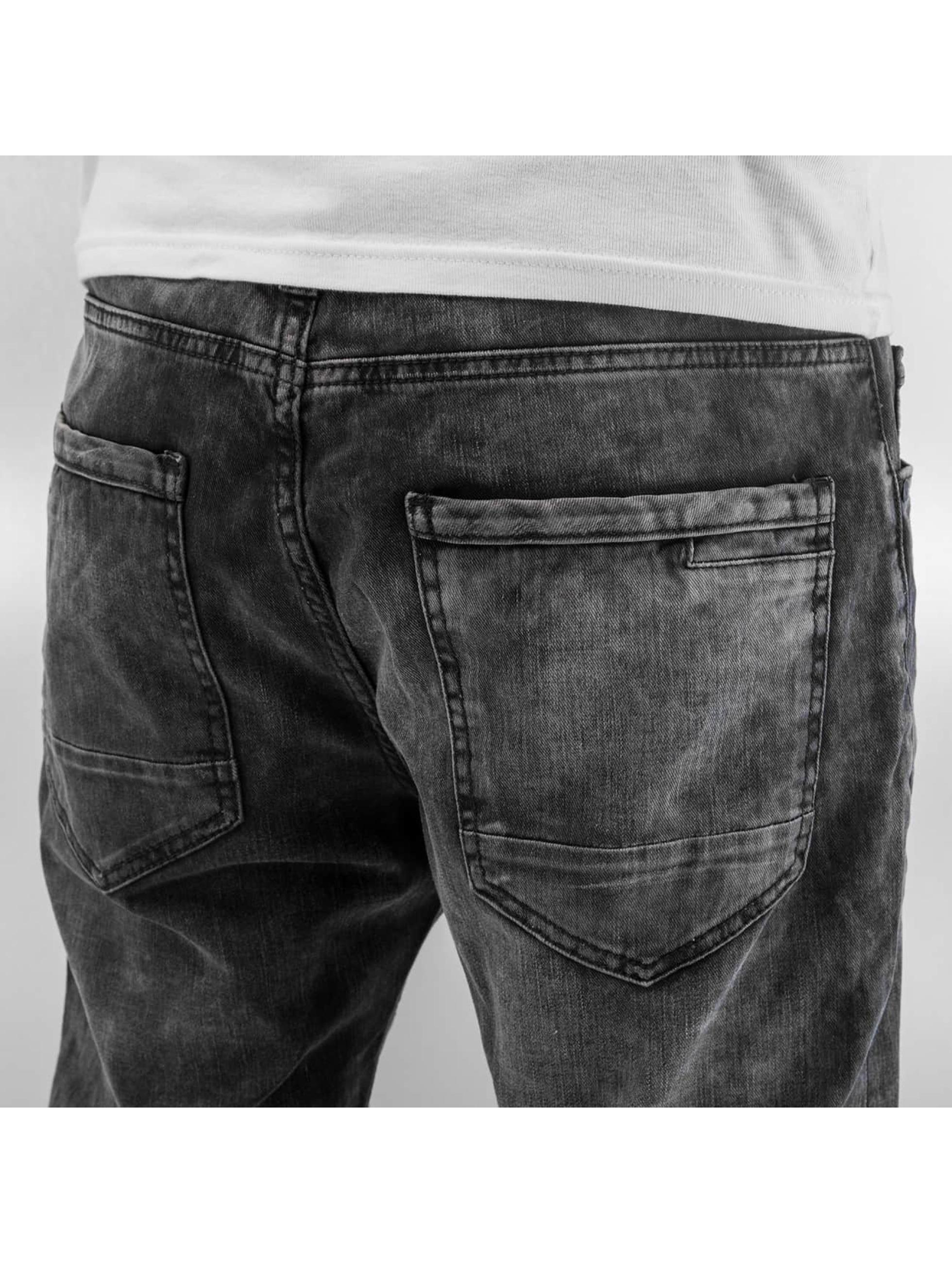 Just Rhyse Antifit jeans Checked svart