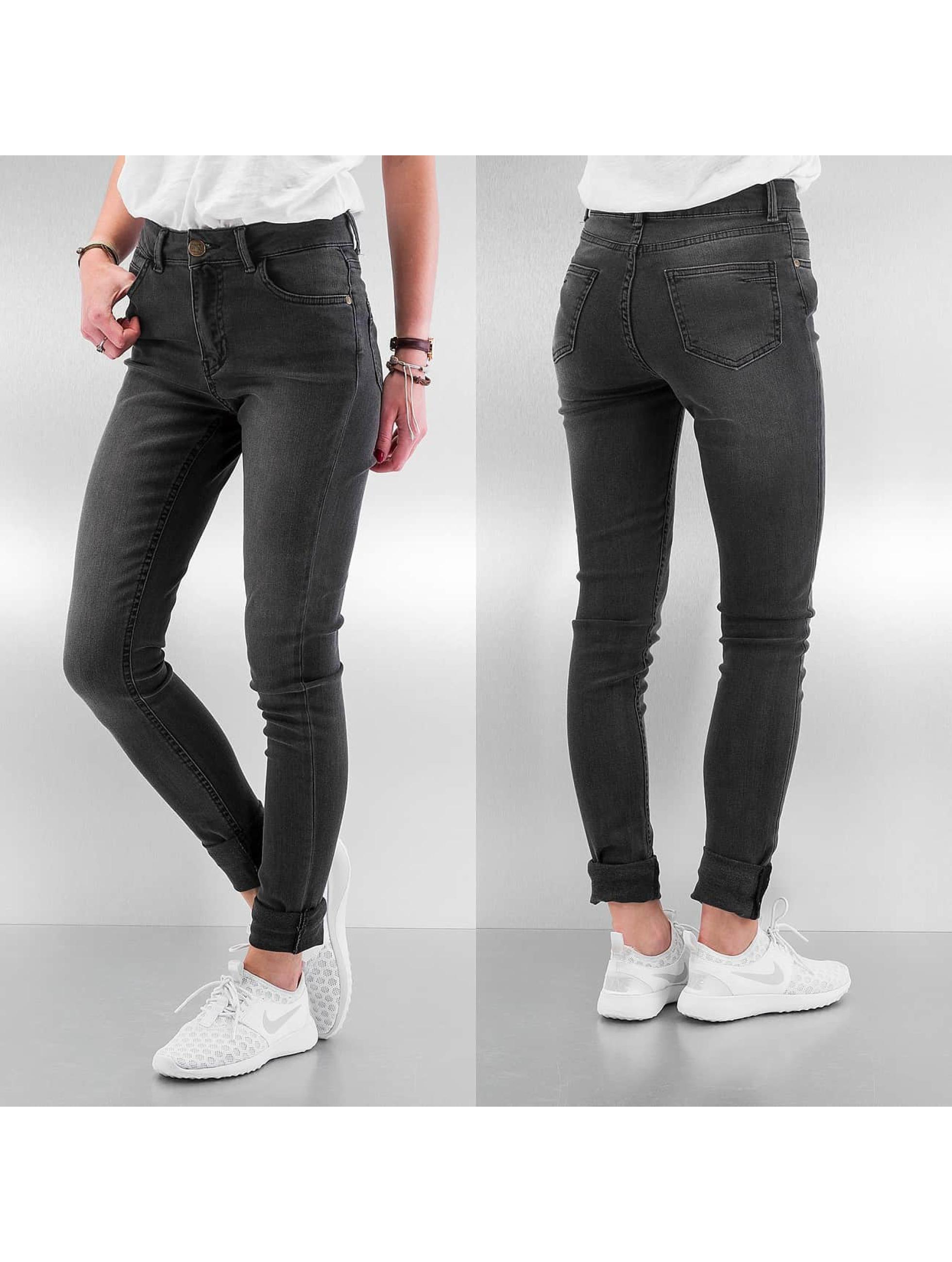 Just Rhyse High Waisted Jeans High Waist šedá
