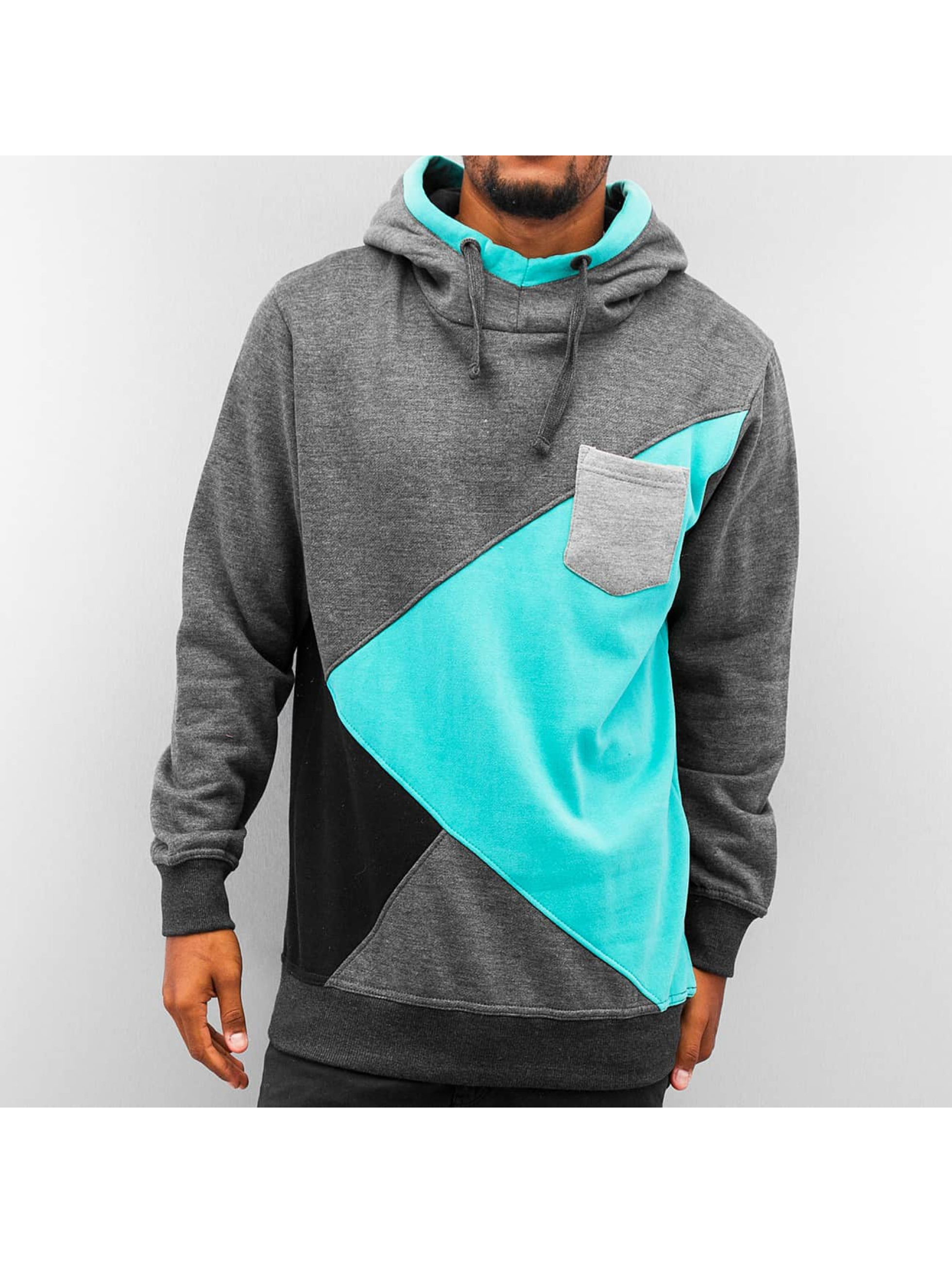 Just Rhyse Hoody Four Tone grijs