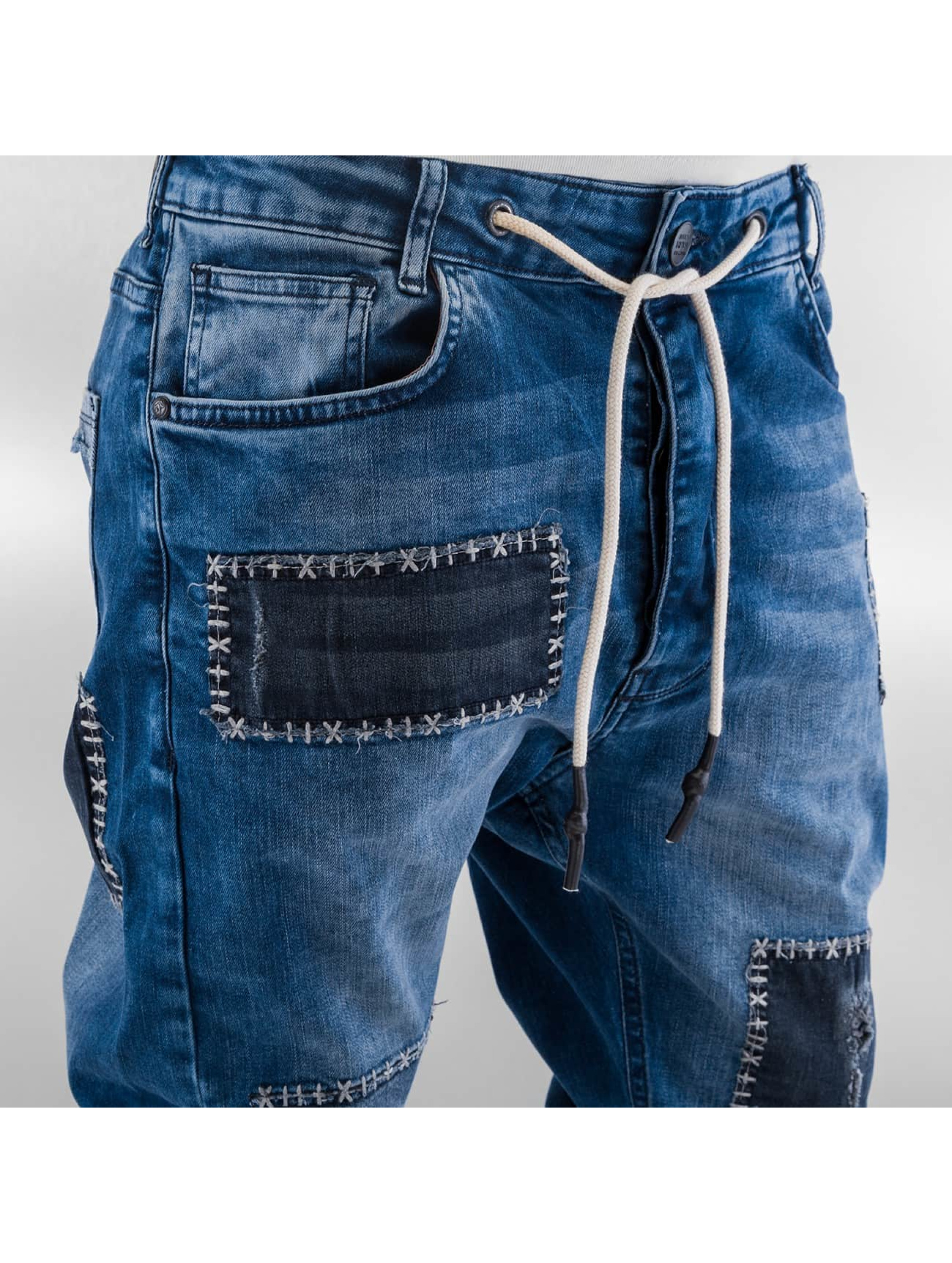 Just Rhyse Jean coupe droite Patches bleu