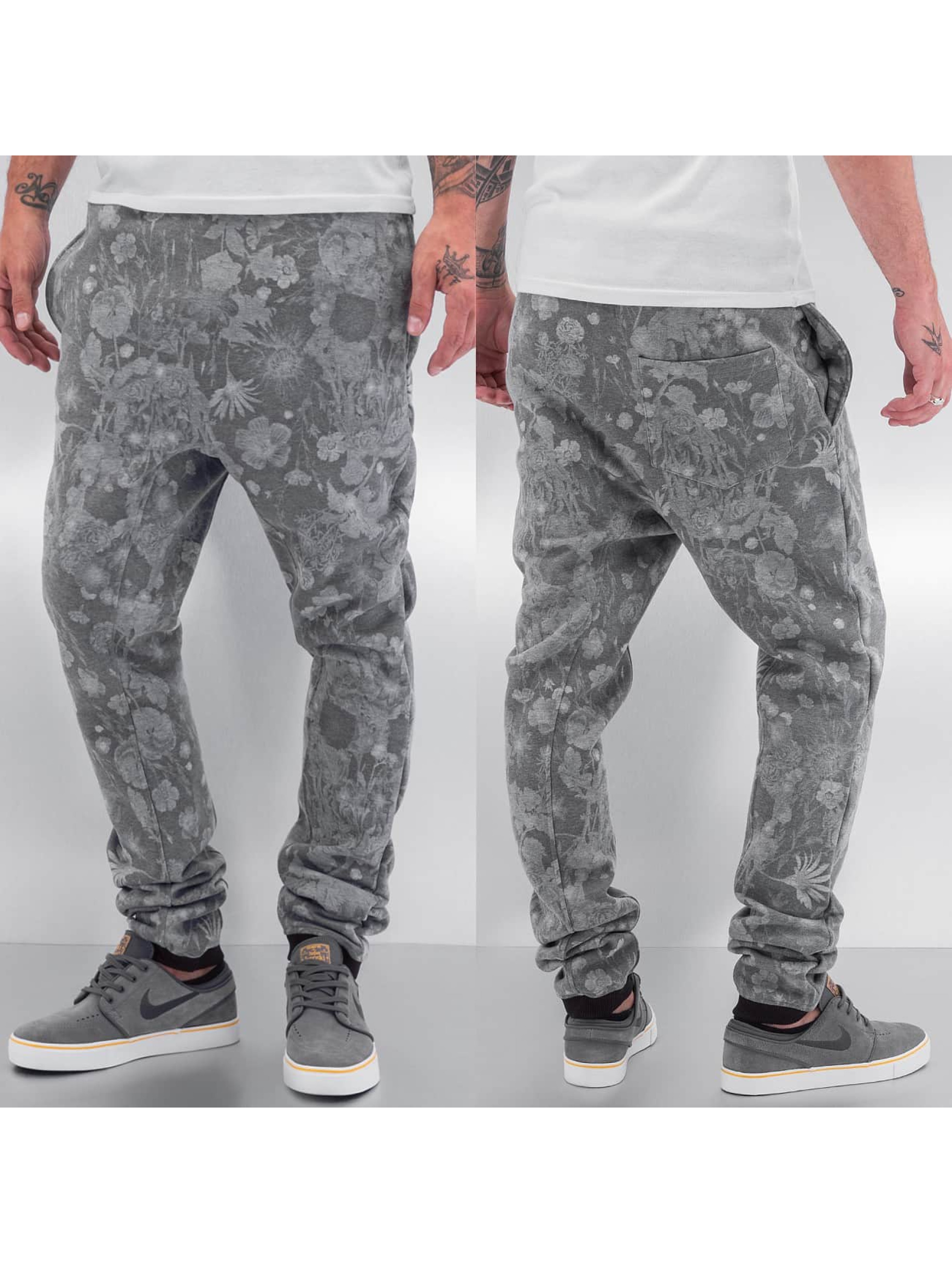 Just Rhyse joggingbroek Flower grijs