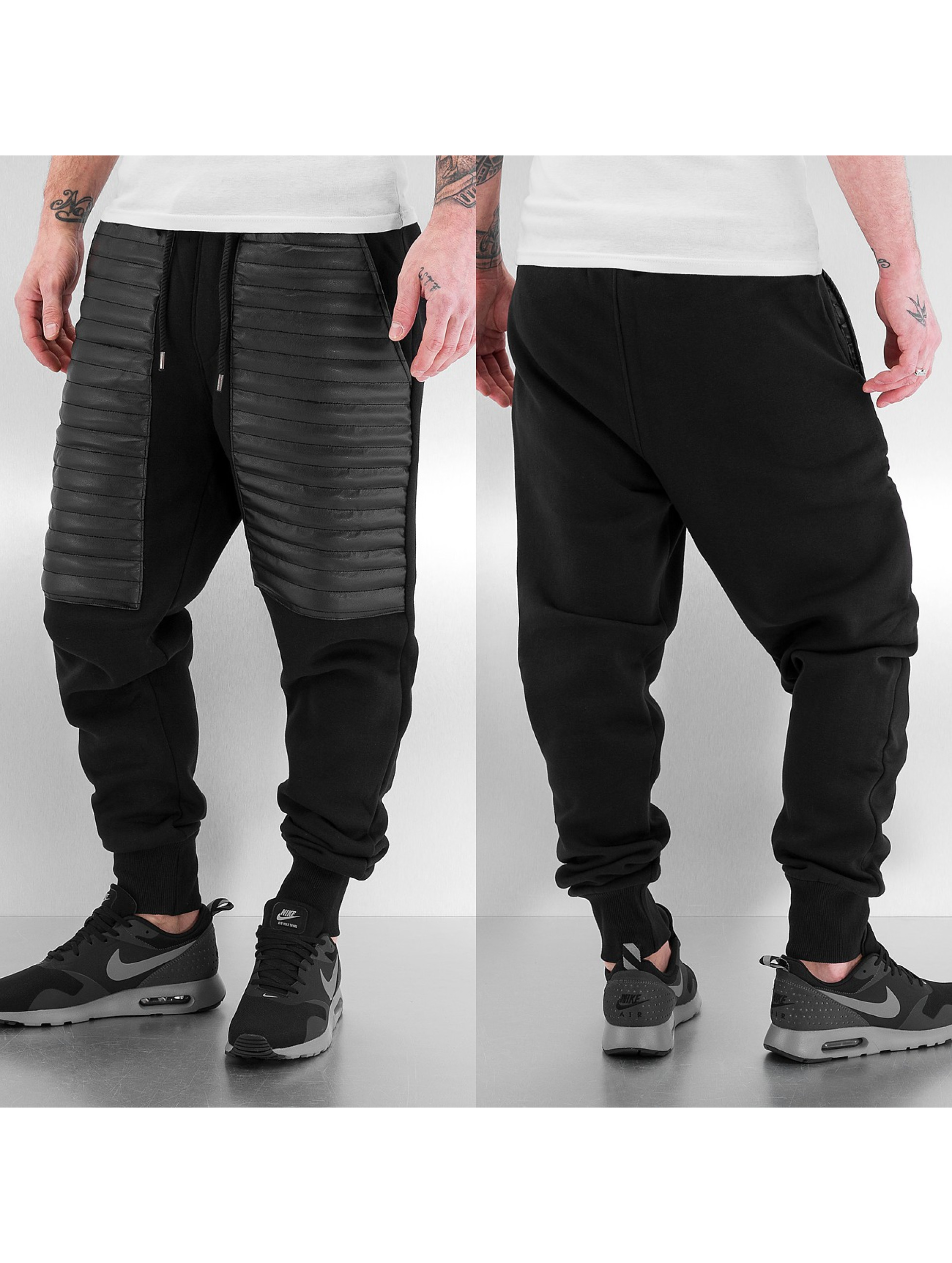 Just Rhyse joggingbroek PU zwart