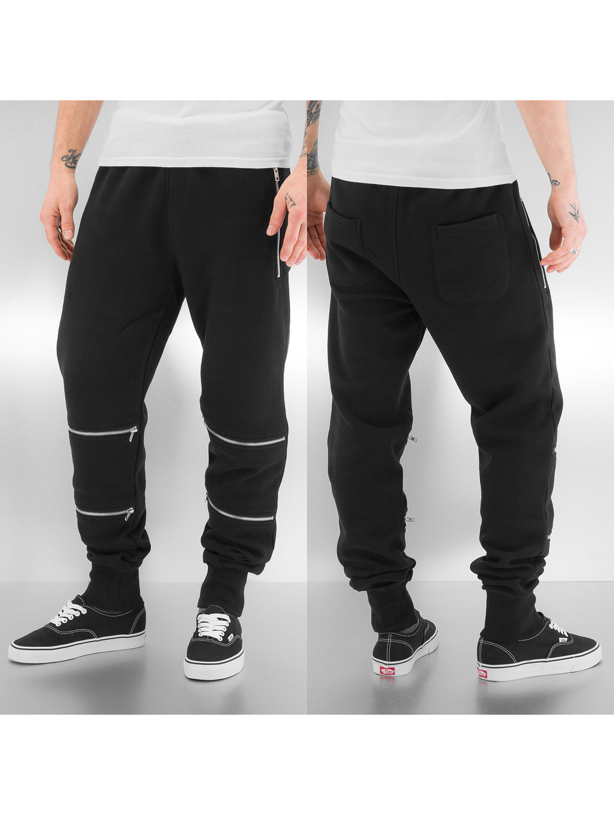 Just Rhyse joggingbroek Zip zwart
