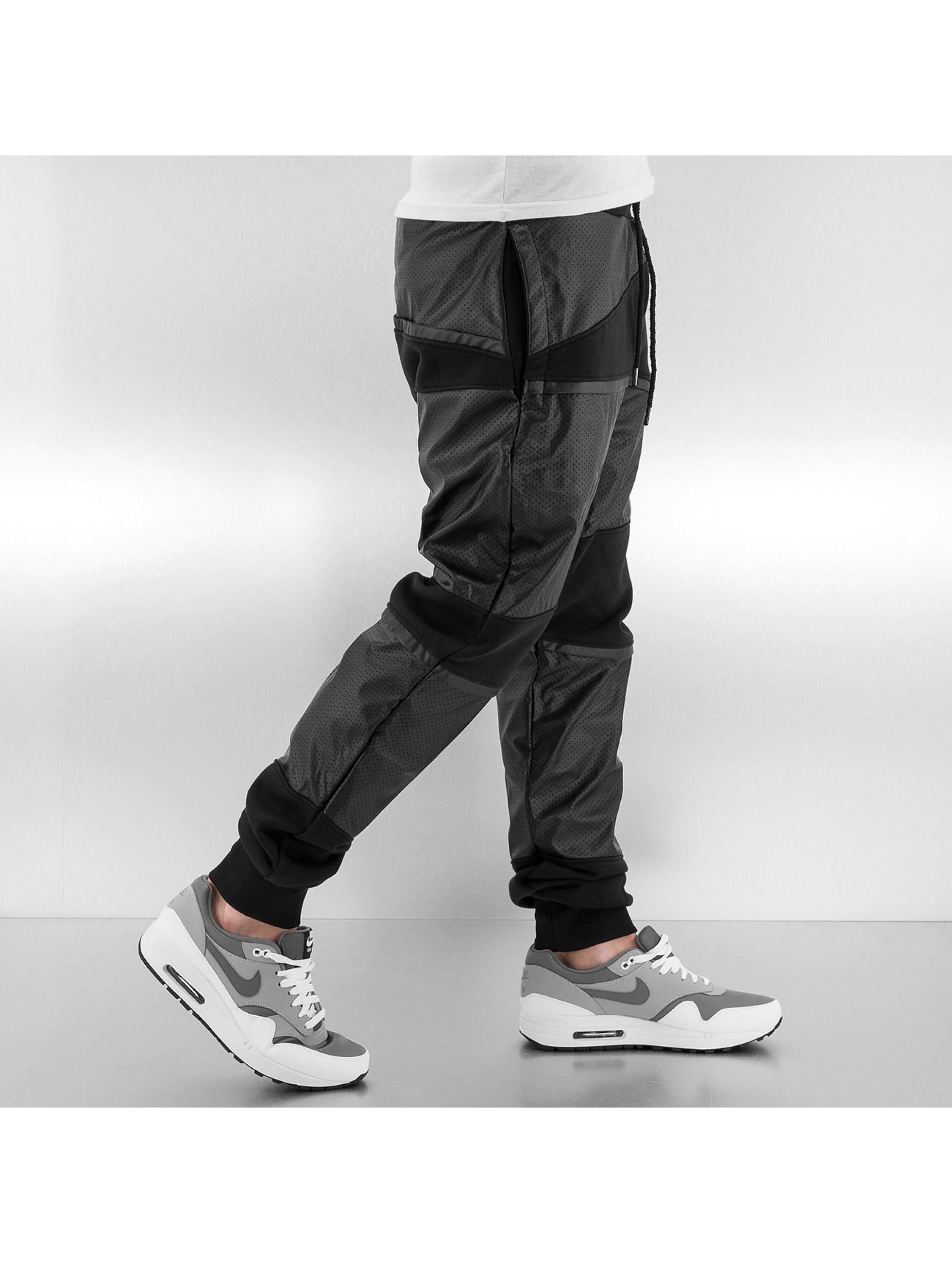 Just Rhyse joggingbroek PU zwart