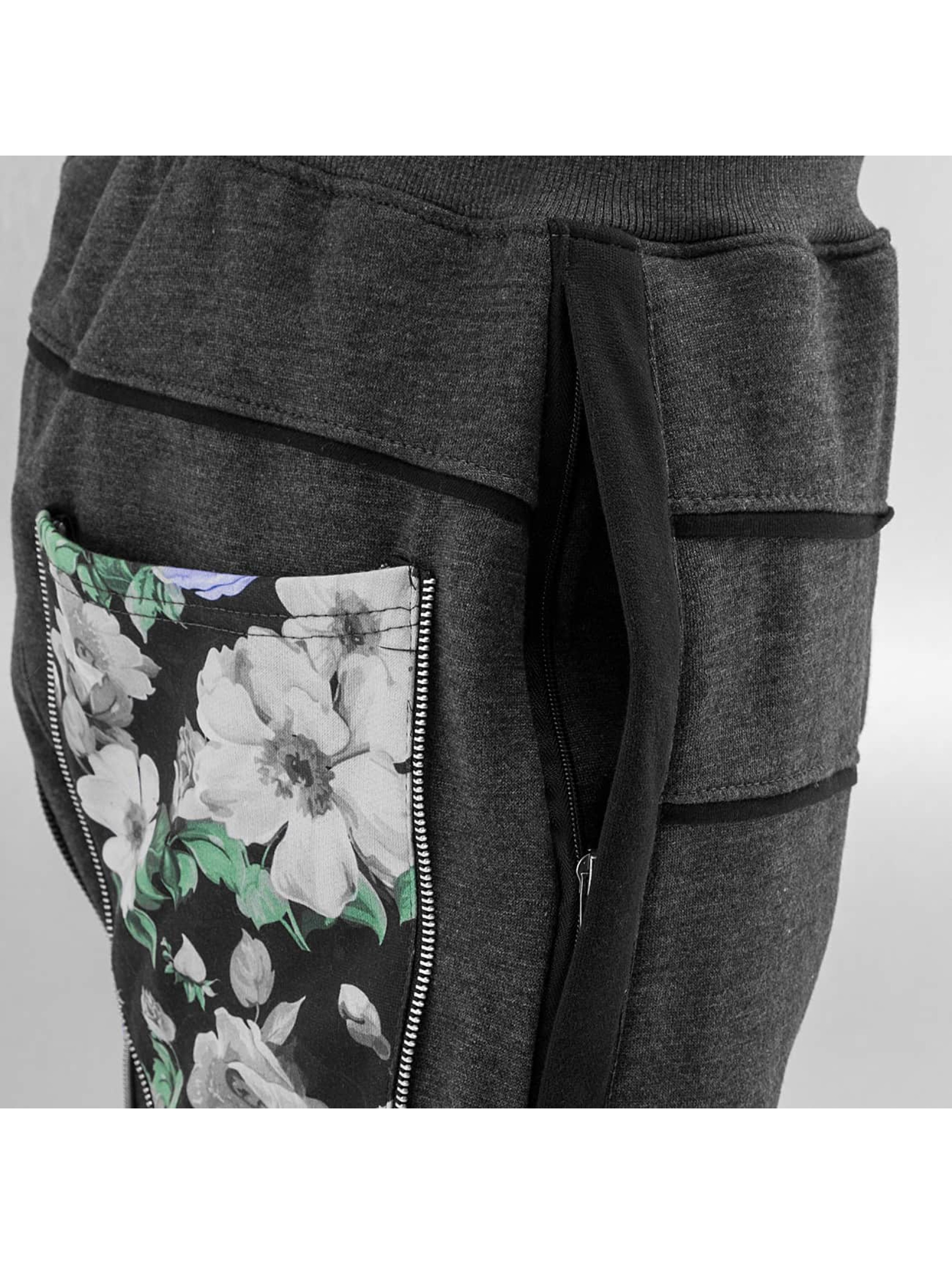 Just Rhyse joggingbroek Flower zwart