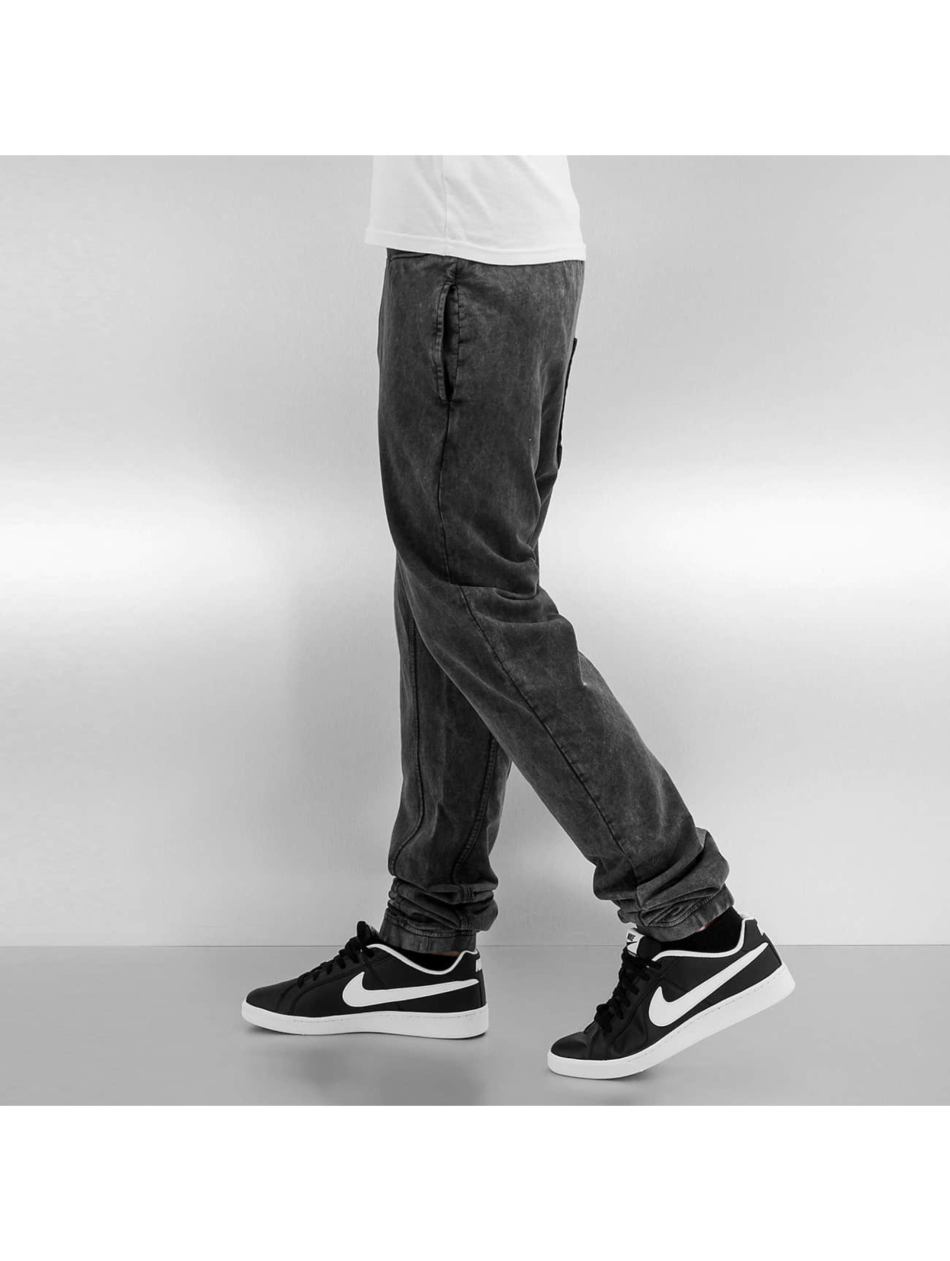 Just Rhyse joggingbroek Used Look zwart