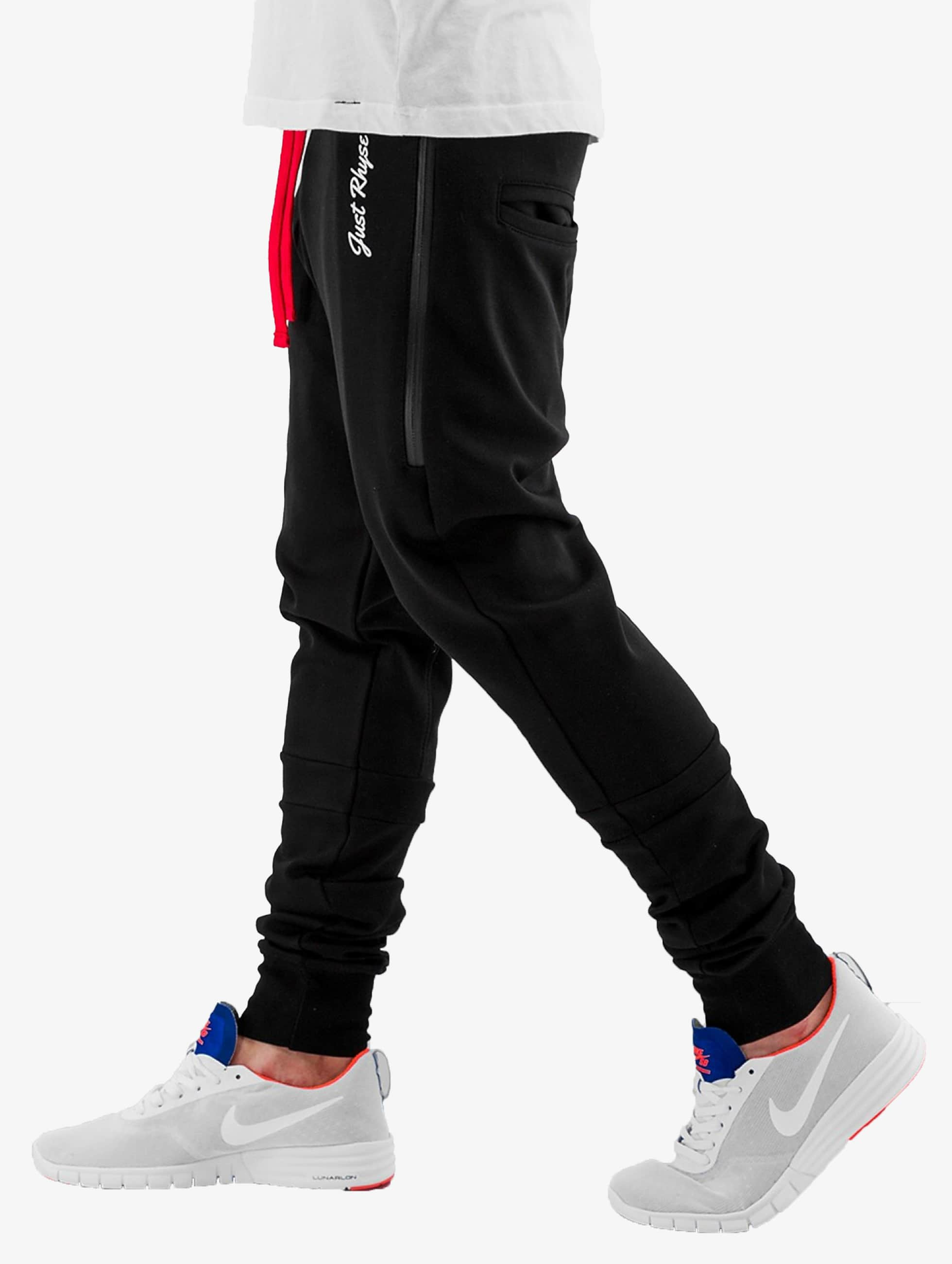 Just Rhyse joggingbroek Big Pocket Tech zwart
