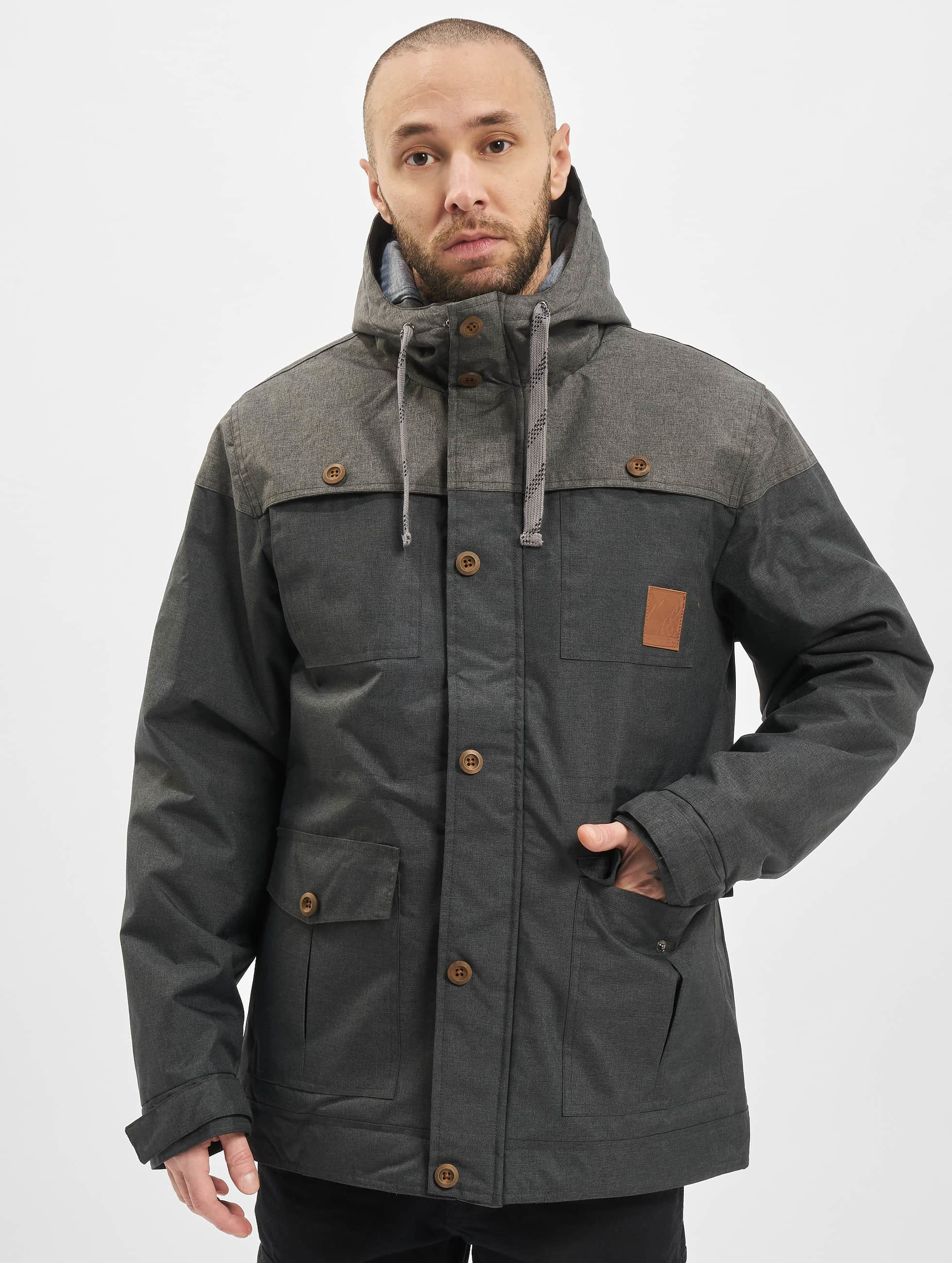 Just Rhyse Manteau hiver Warin gris