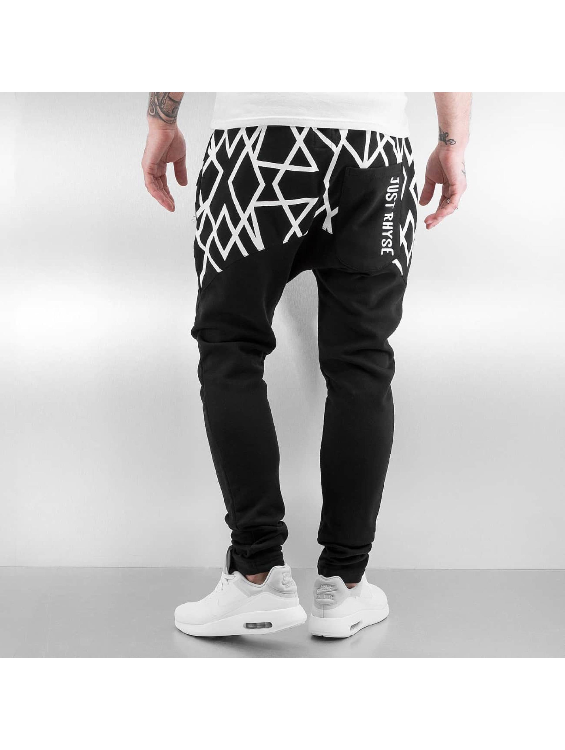 Just Rhyse Pantalone ginnico Stripes nero