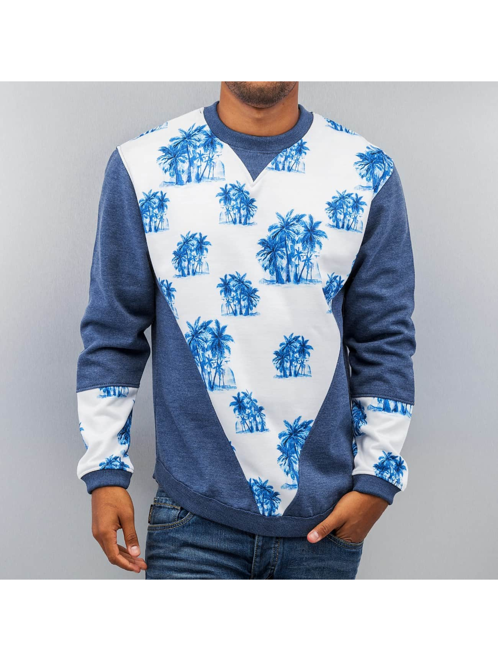 Just Rhyse Pullover Palms blau