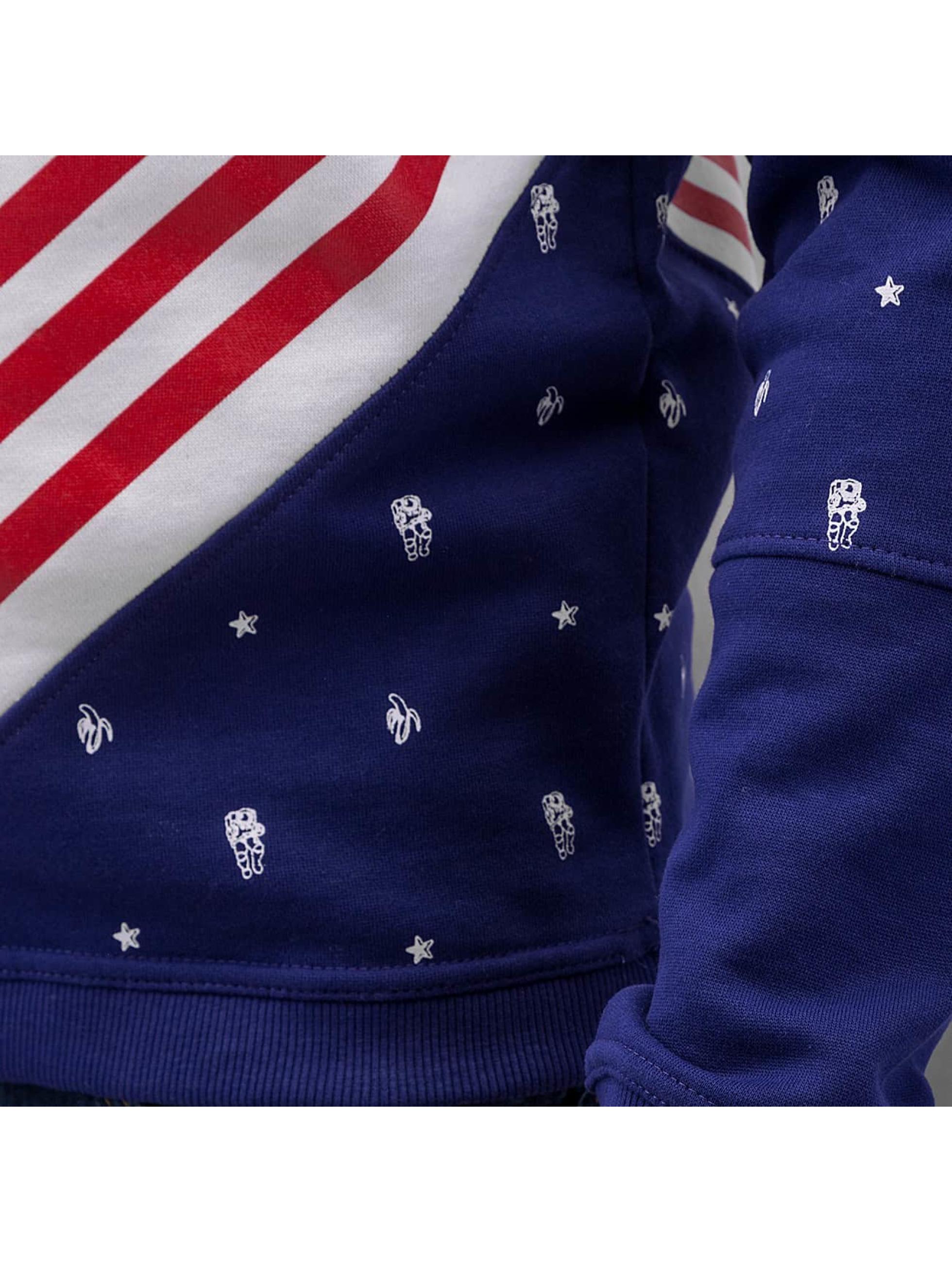 Just Rhyse Pullover US Logo blau