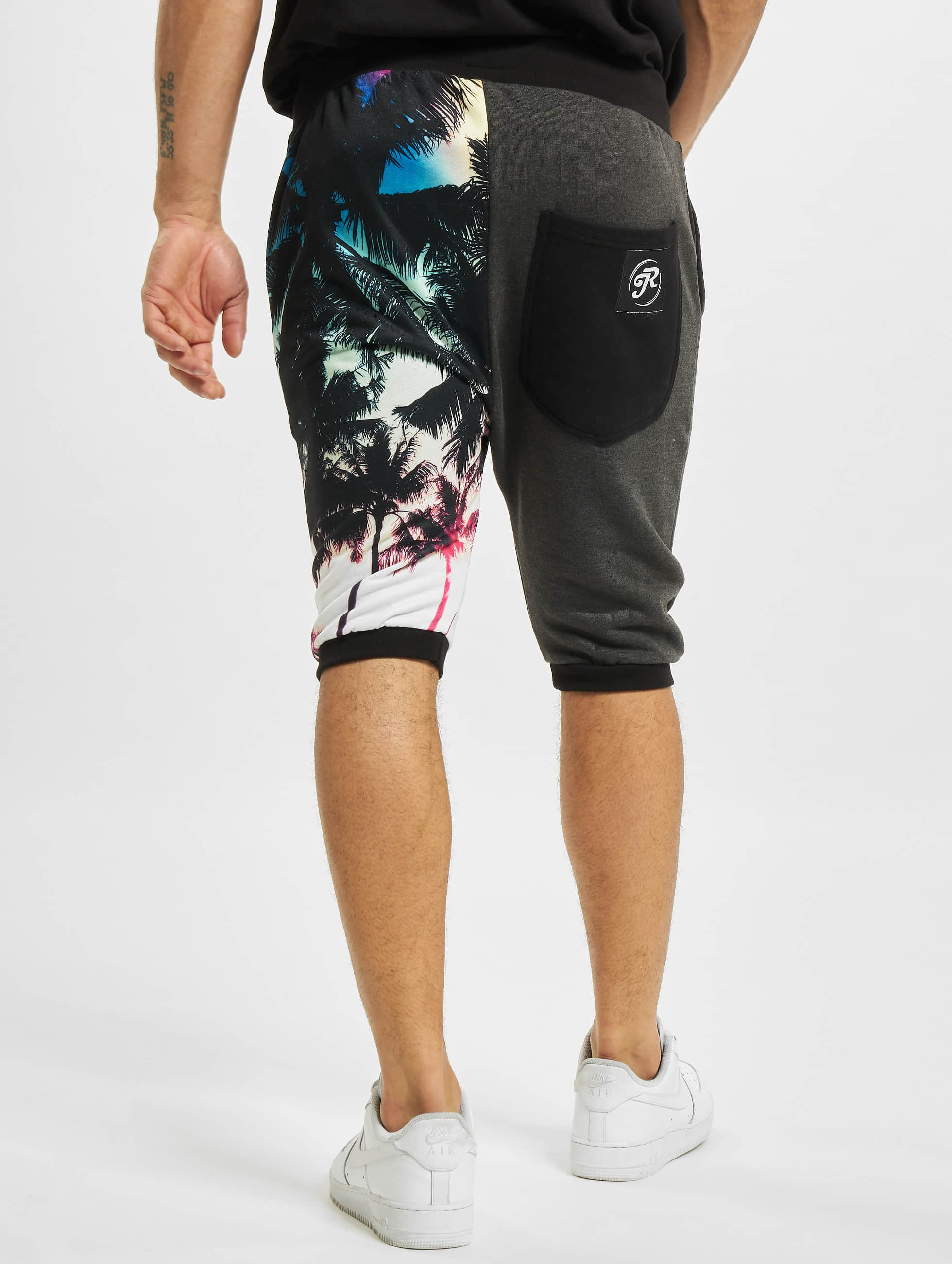 Just Rhyse shorts Palmen zwart