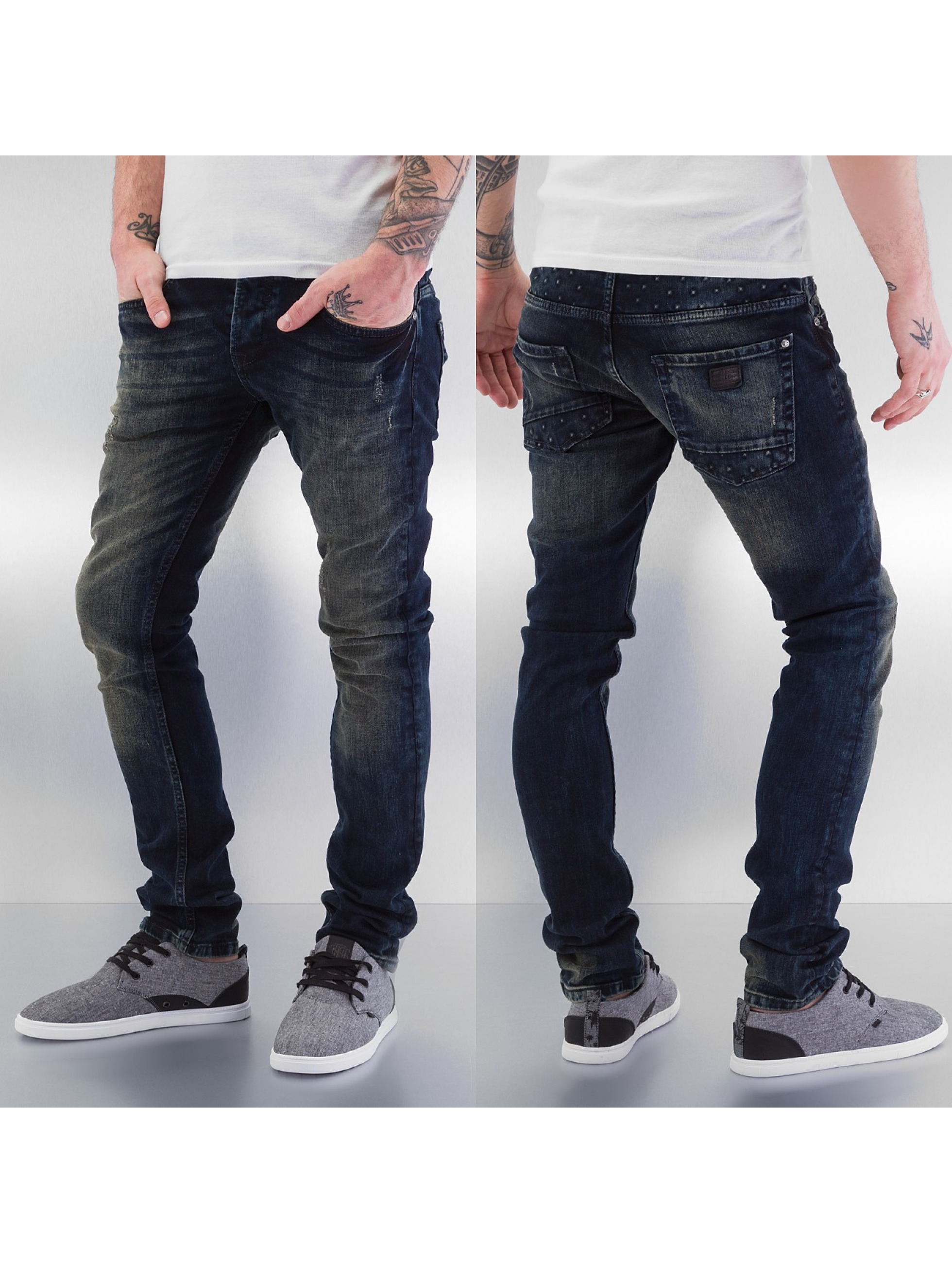 Just Rhyse Skinny Jeans Application blau