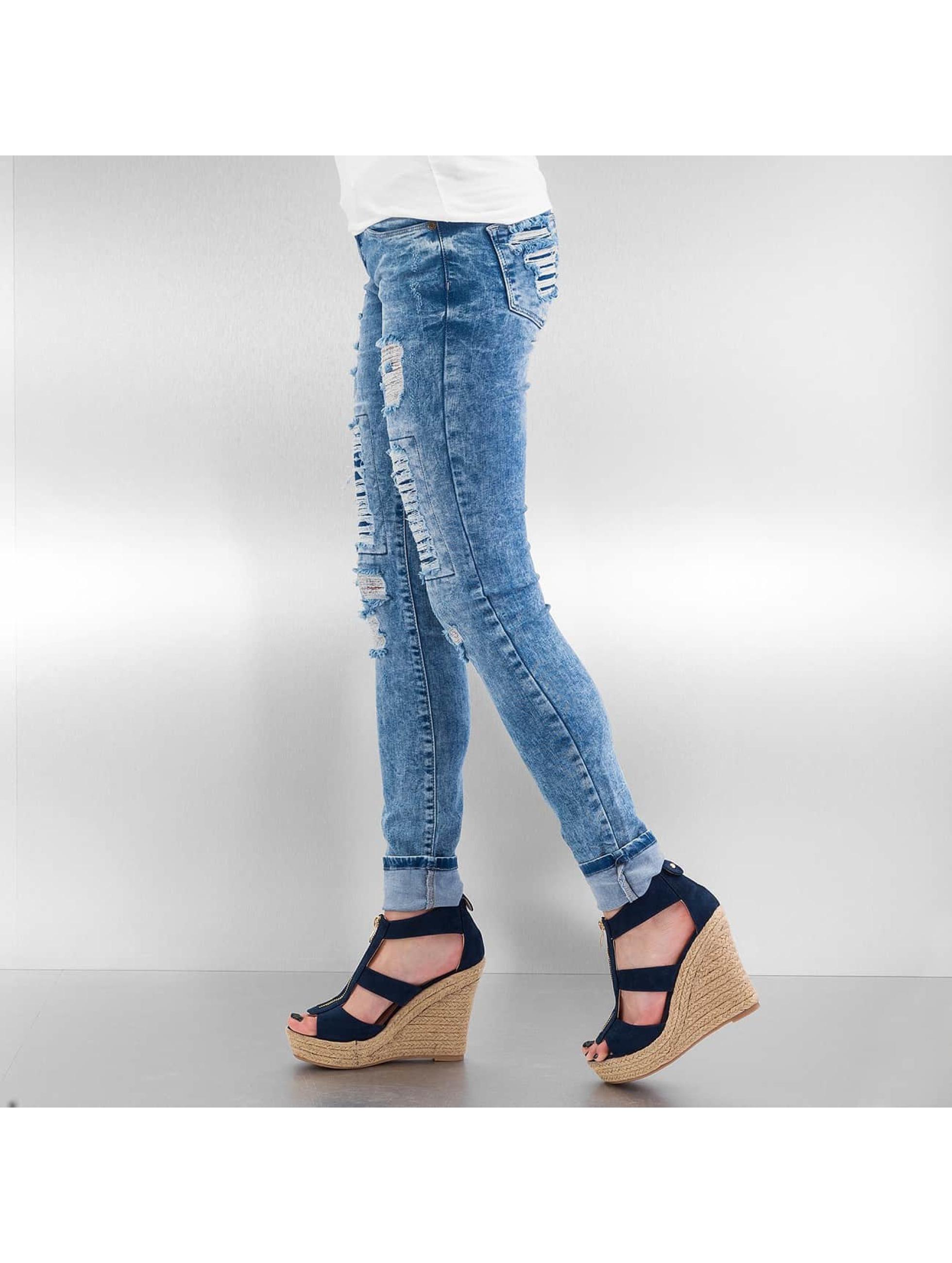 Just Rhyse Skinny Jeans Destroyed blau