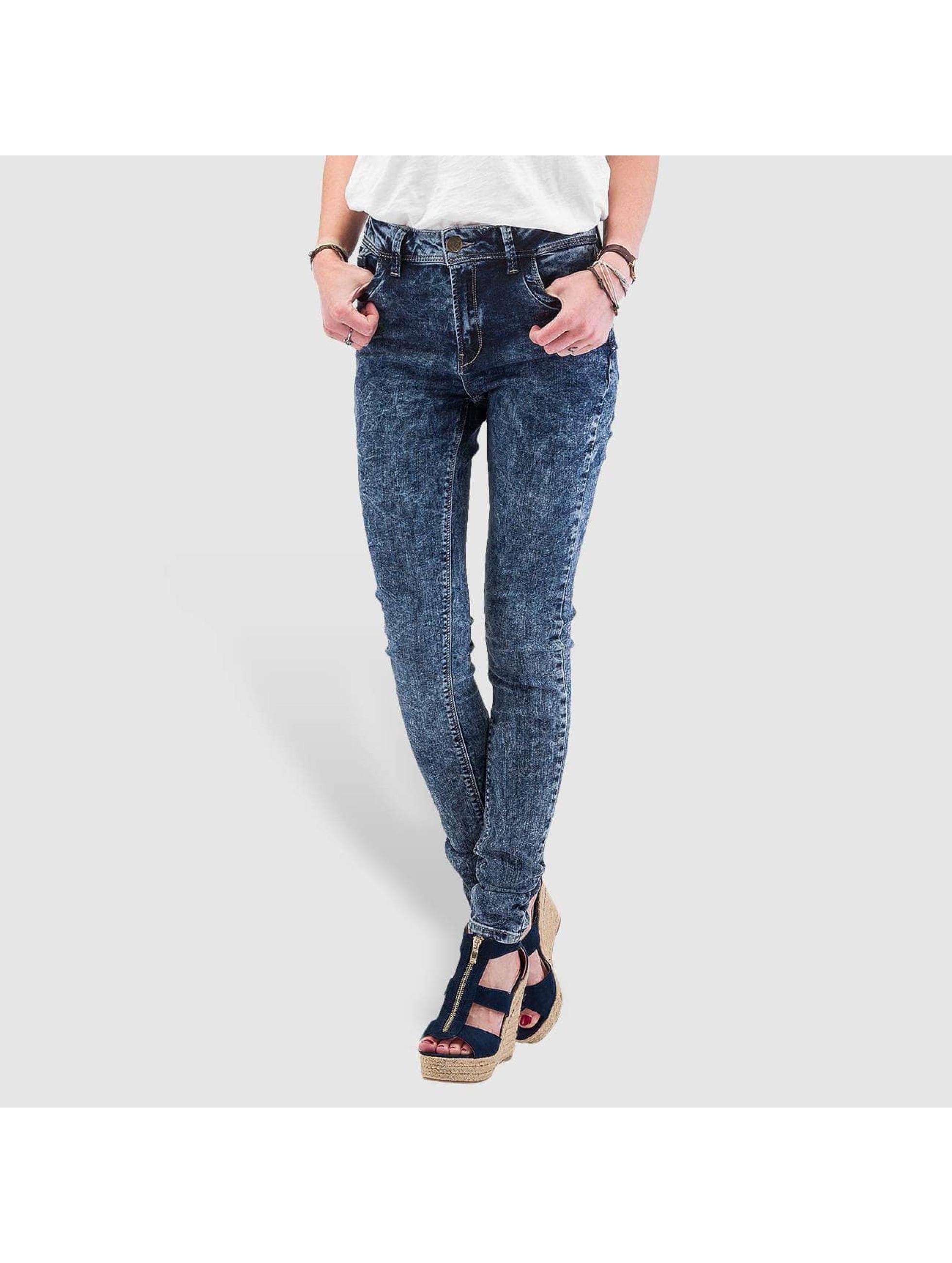 Skinny Jeans High Waist in blau