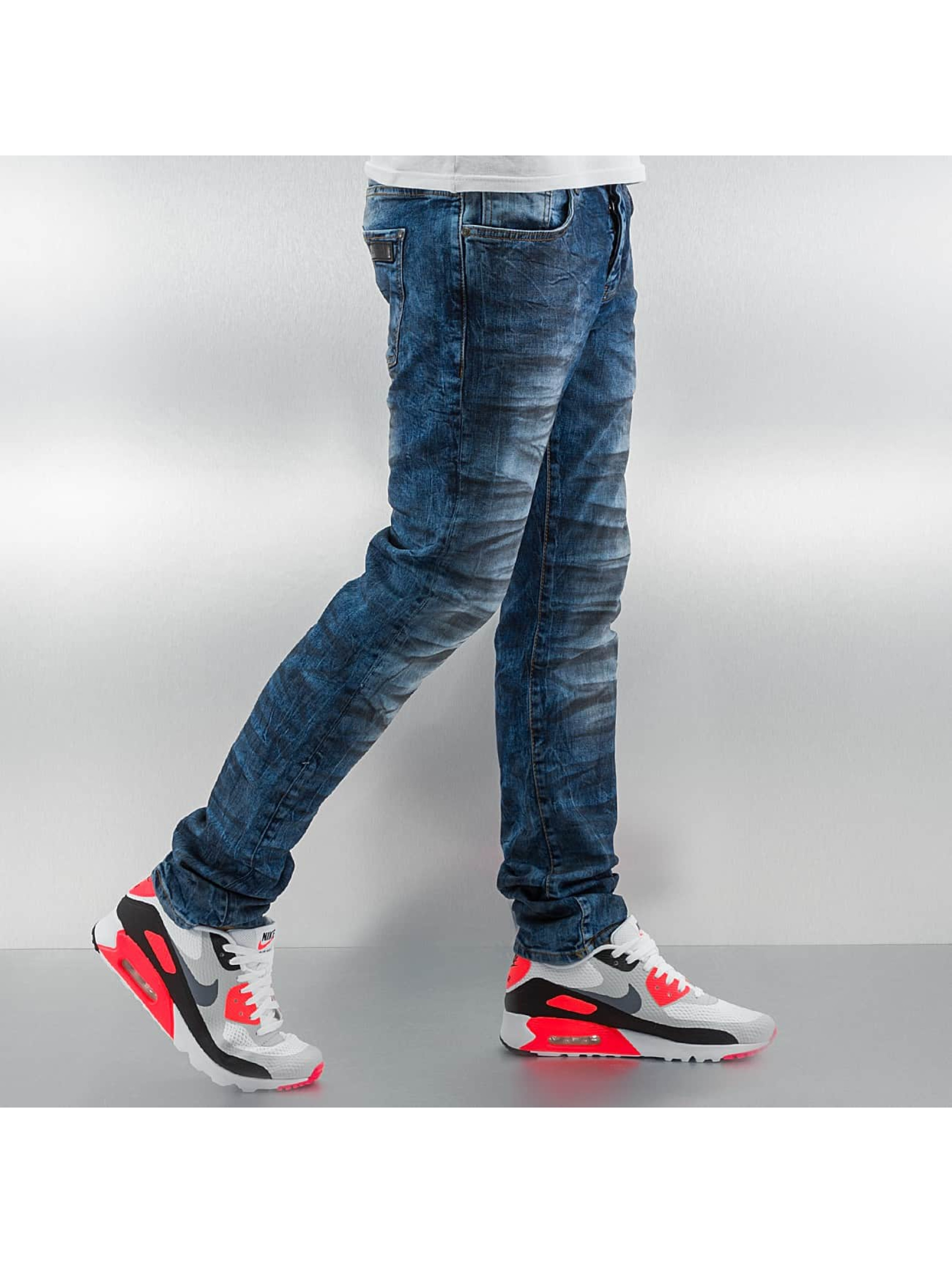 Just Rhyse Skinny Jeans Oil niebieski