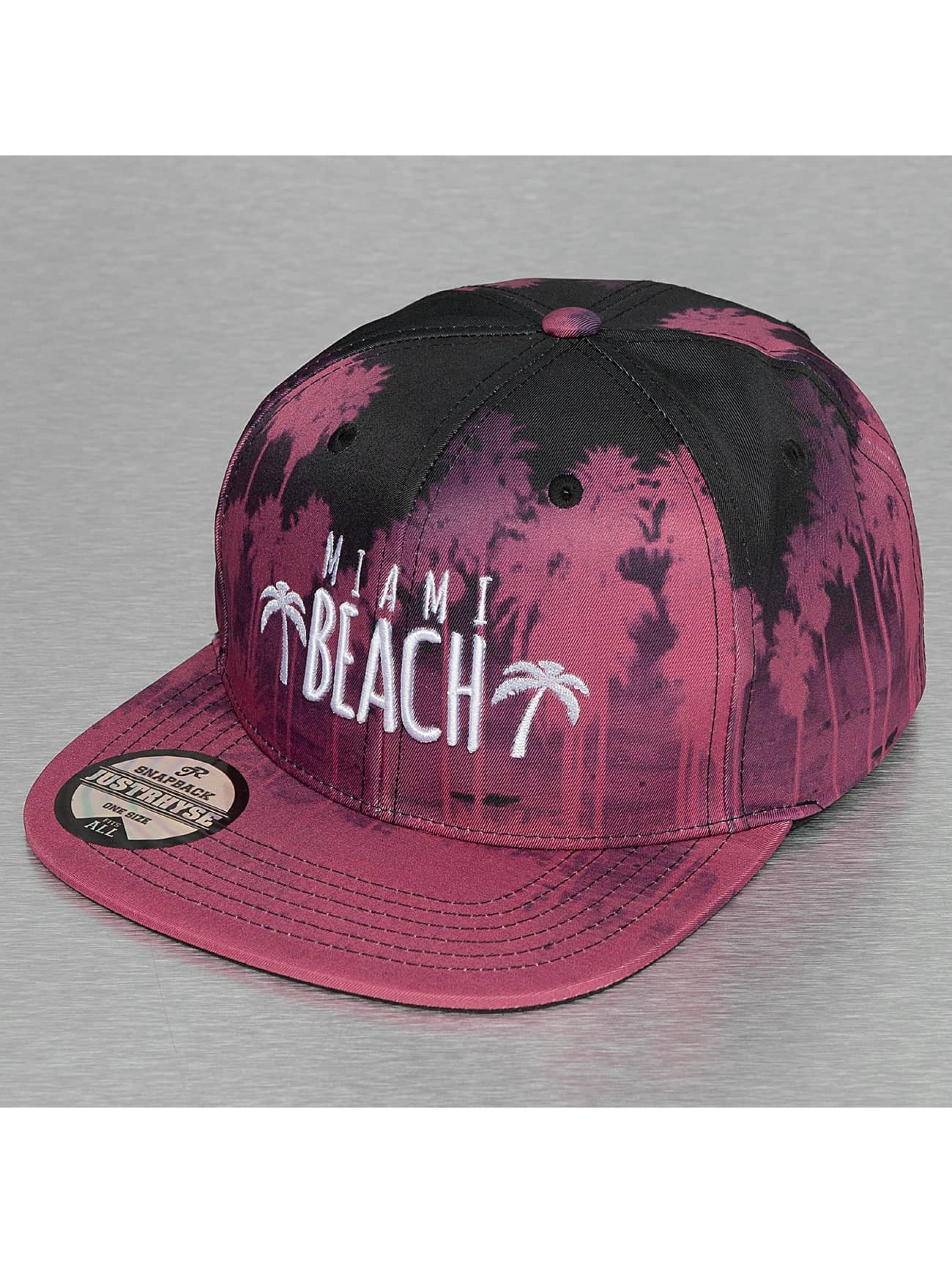 Just Rhyse Snapback Cap Miami Beach red