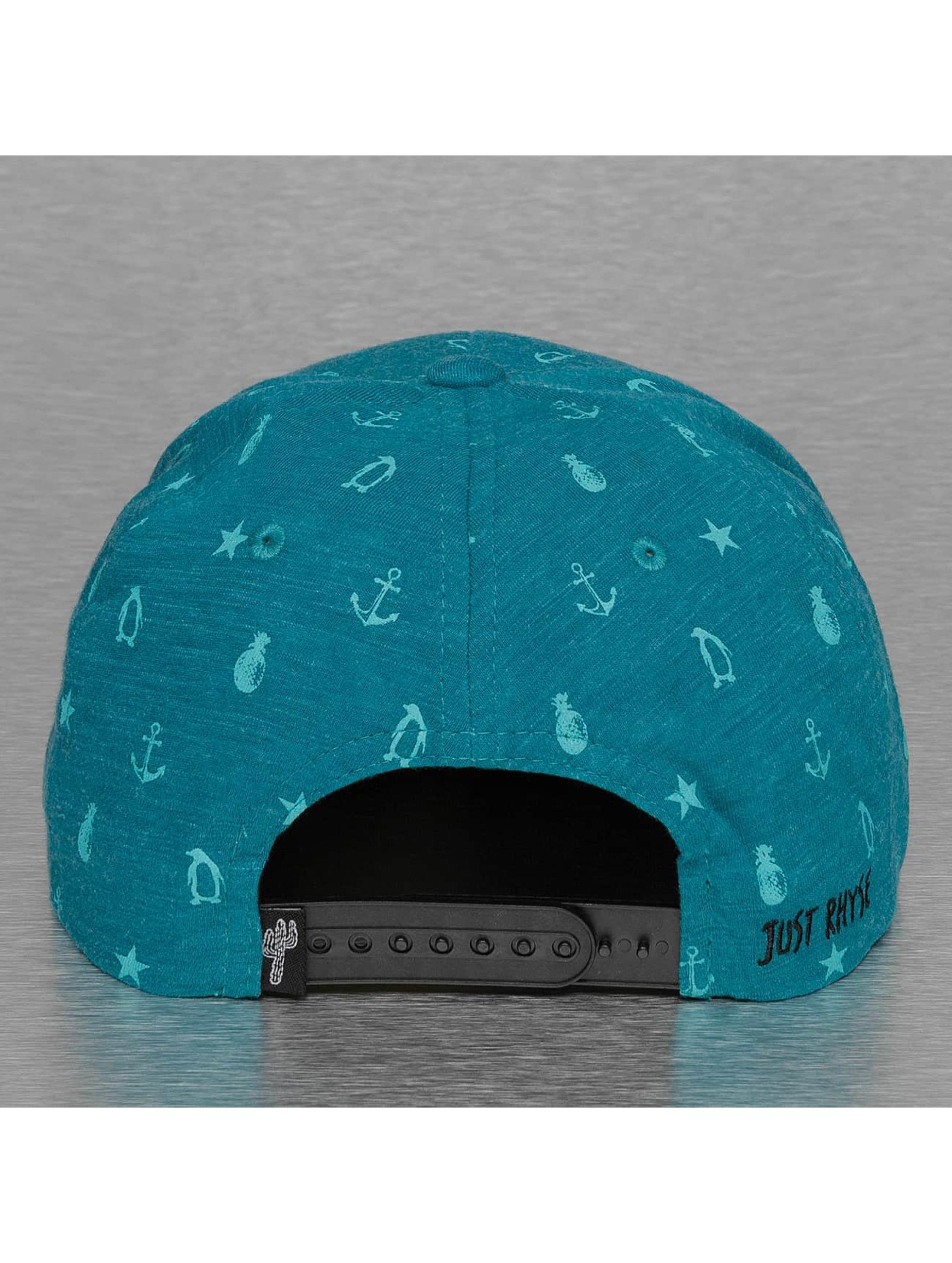 Just Rhyse Snapback Caps Ocean blå