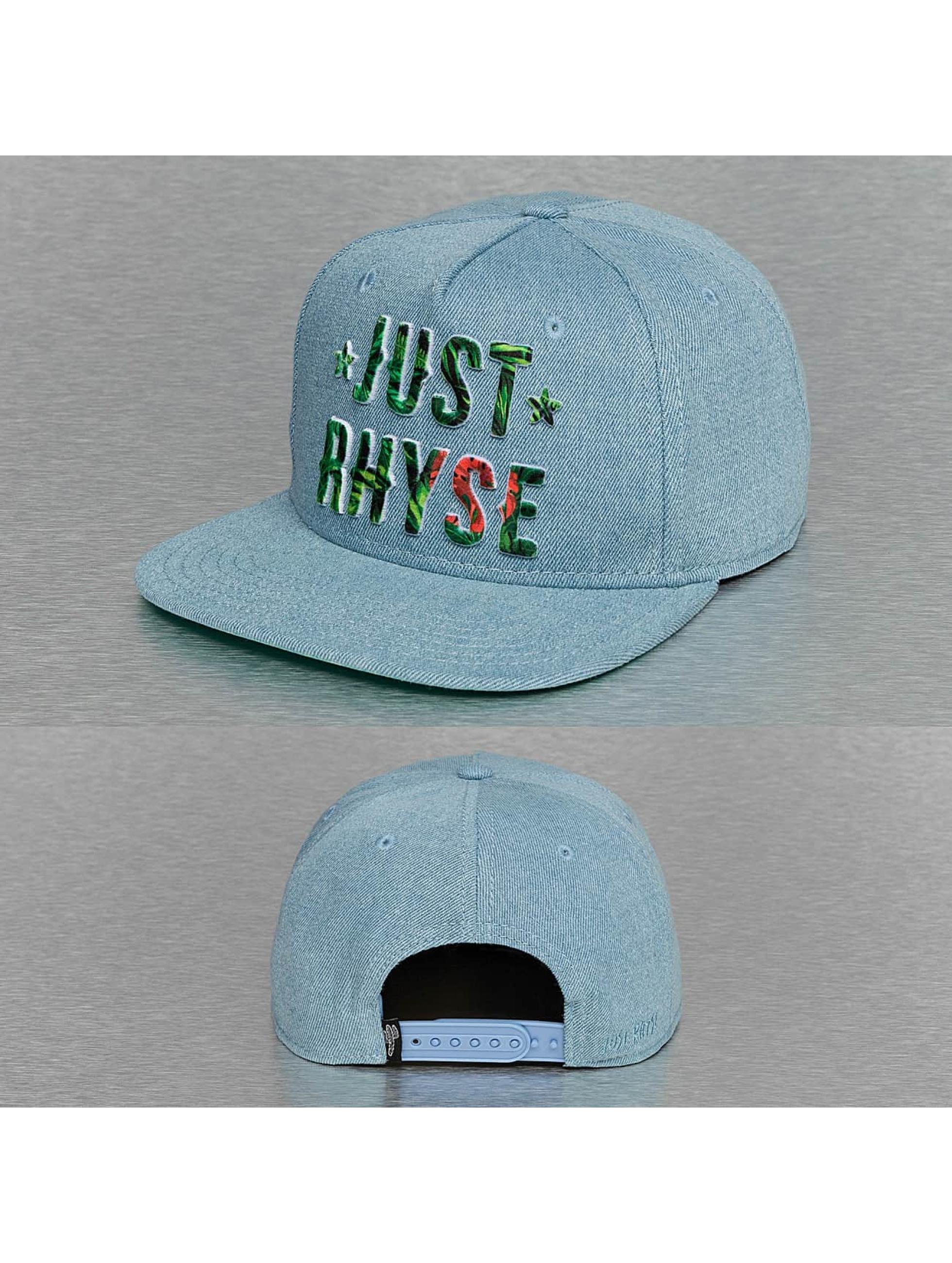Just Rhyse Snapback Caps Plant Logo niebieski