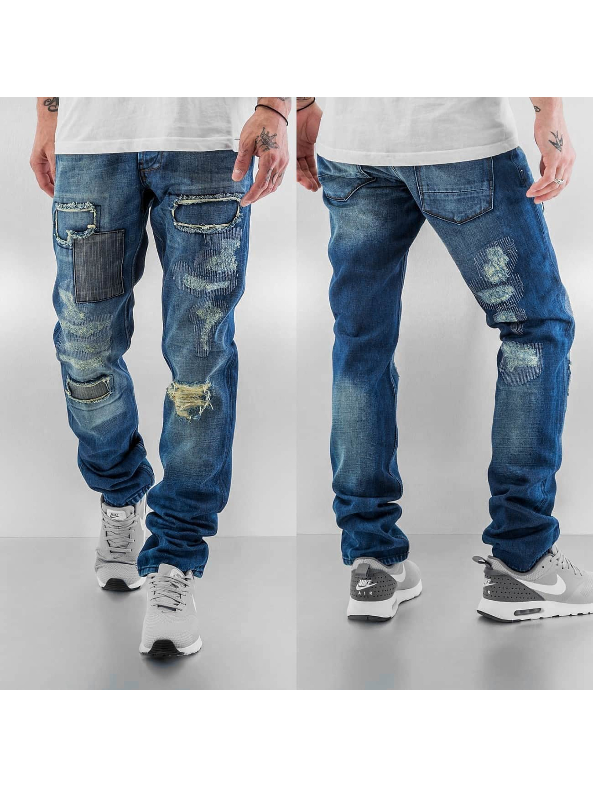 Just Rhyse Straight Fit Jeans Patch blau