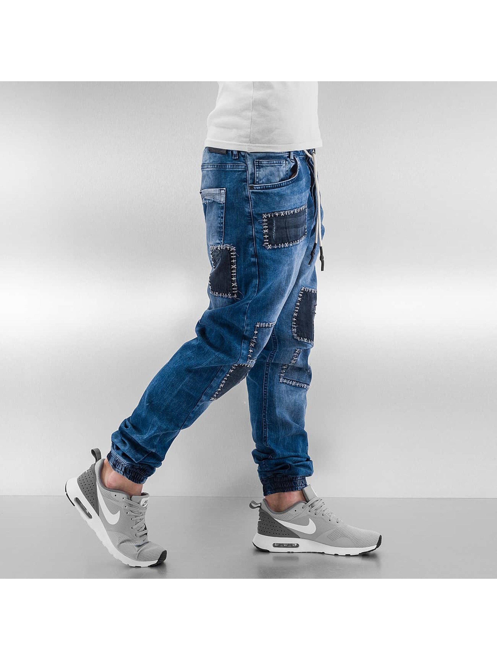 Just Rhyse Straight Fit Jeans Patches blau