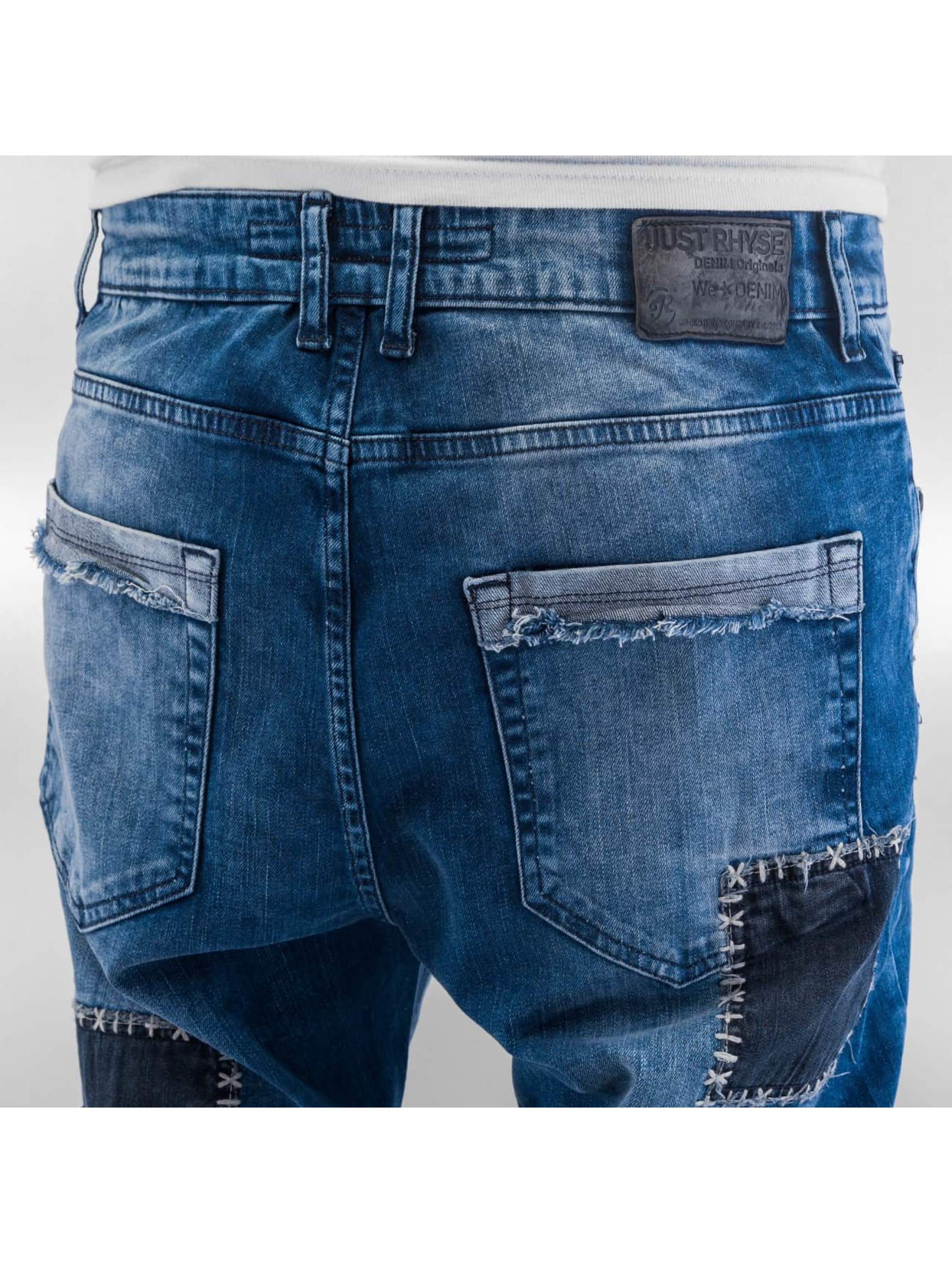 Just Rhyse Straight fit jeans Patches blauw