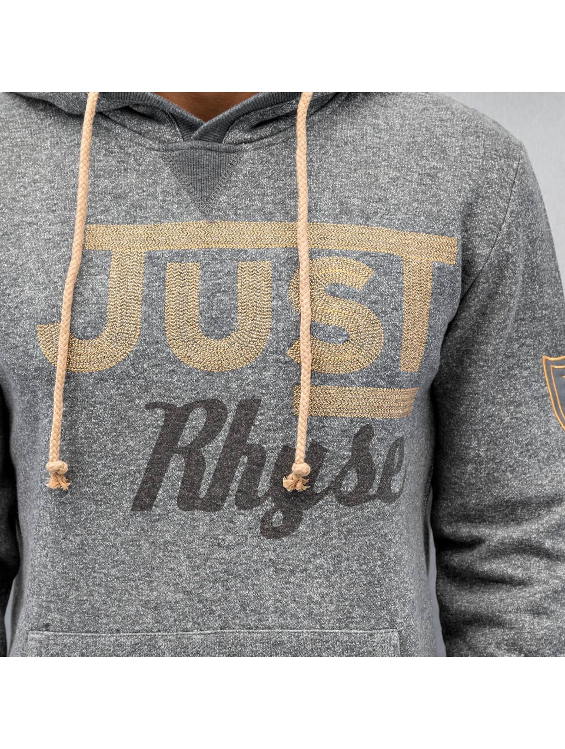 Just Rhyse Sweat capuche Logo gris