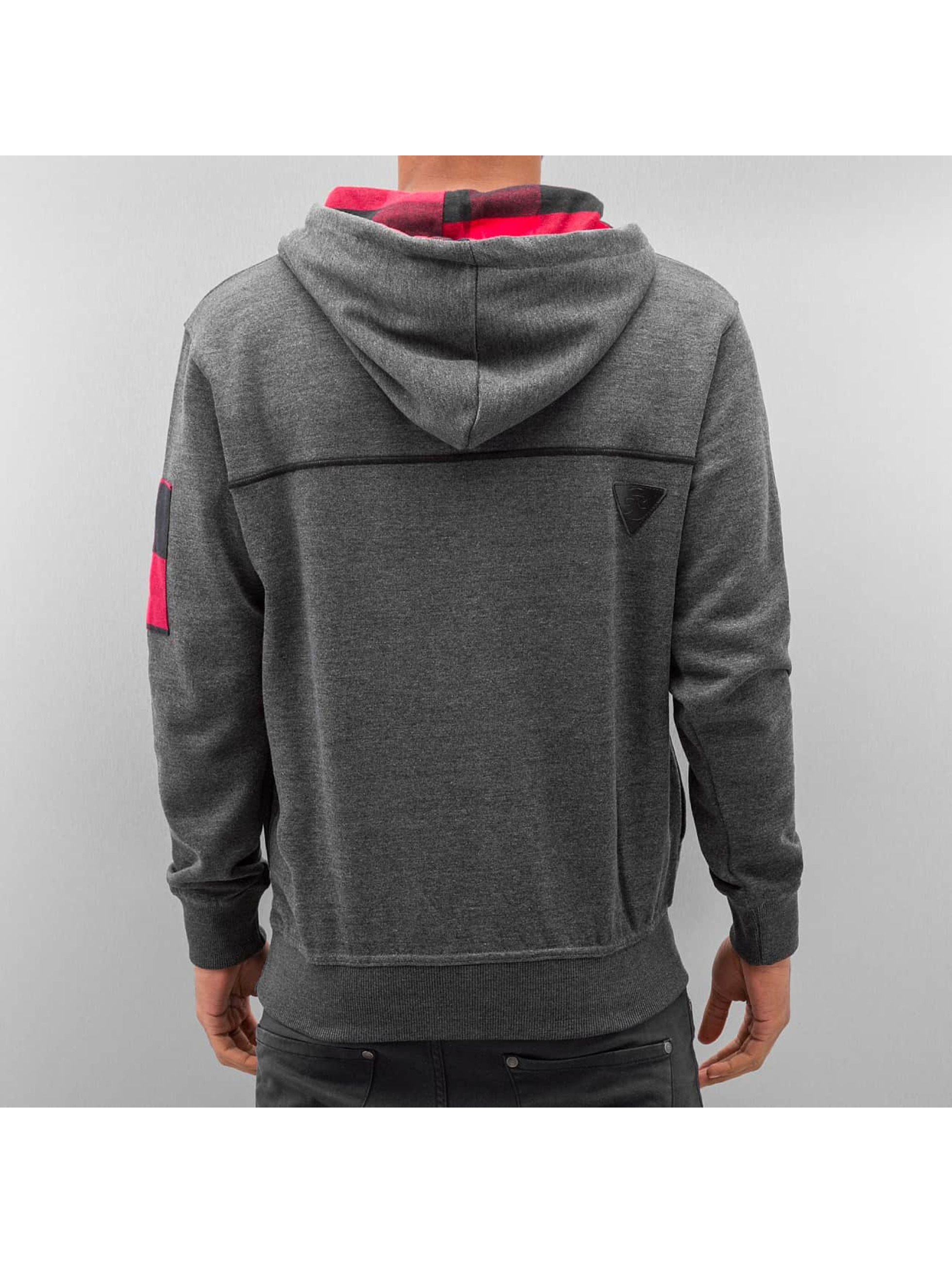 Just Rhyse Sweat capuche Checked gris