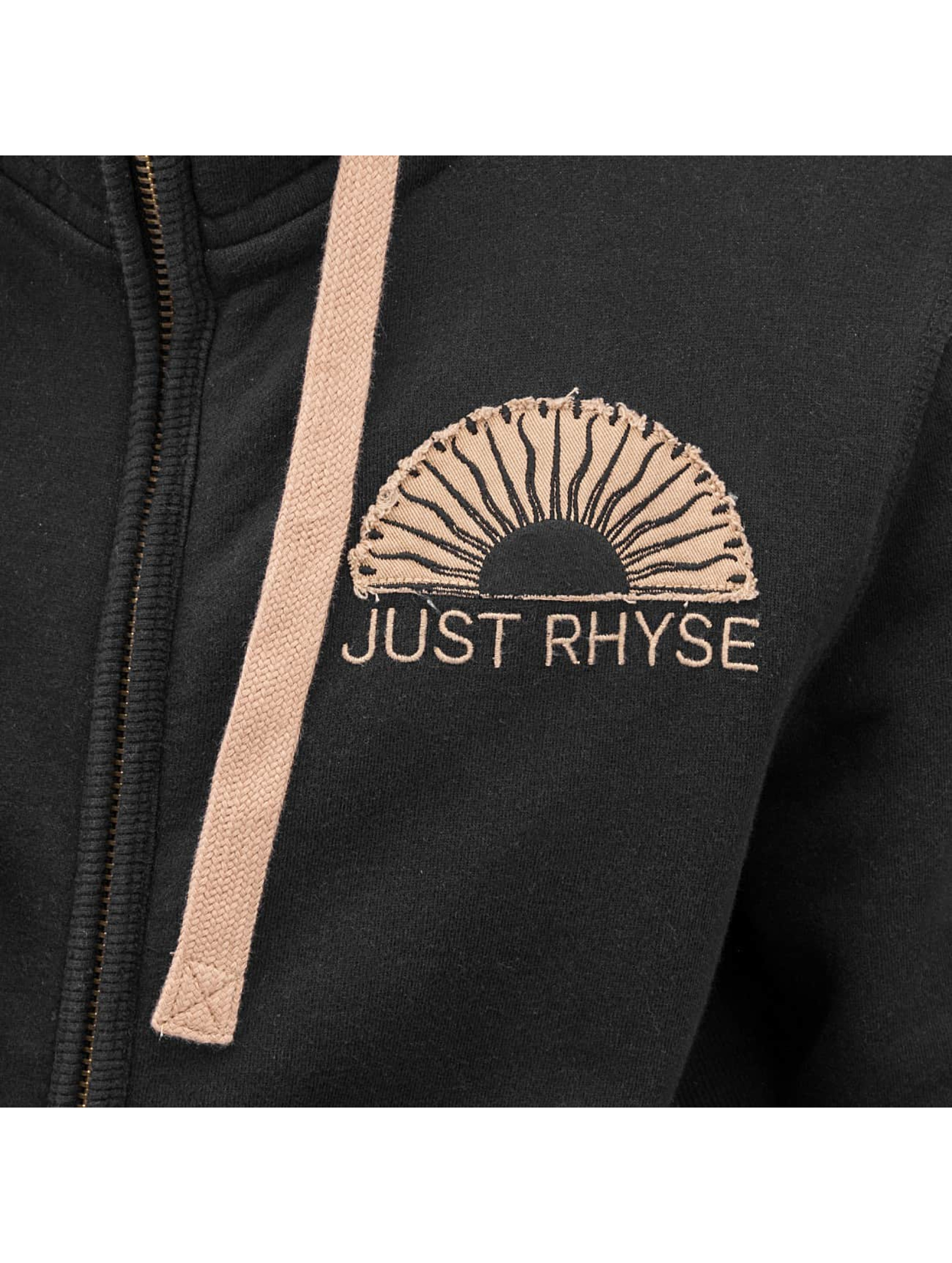 Just Rhyse Sweatvest Sun zwart
