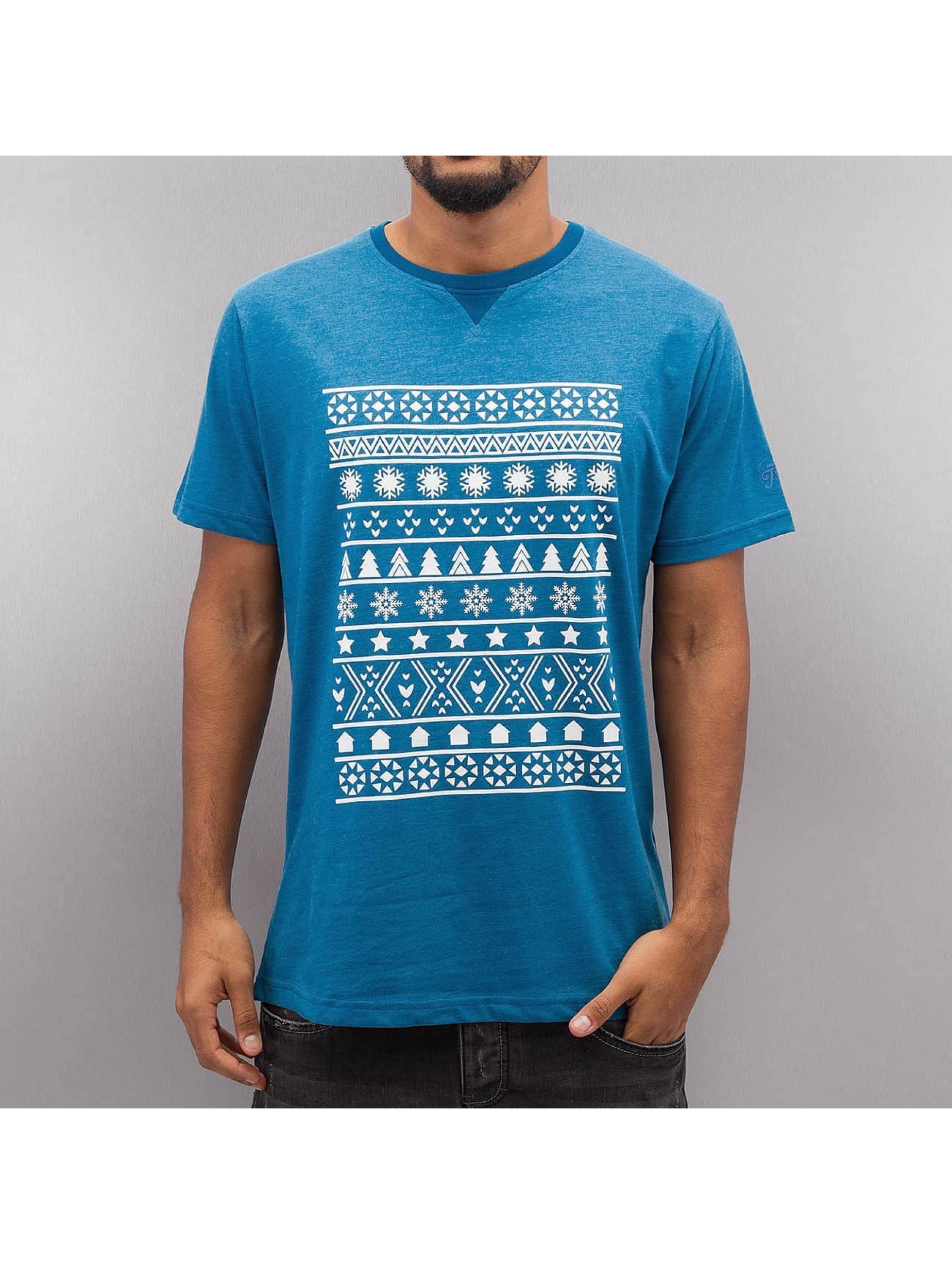 Just Rhyse T-Shirt Snow blau