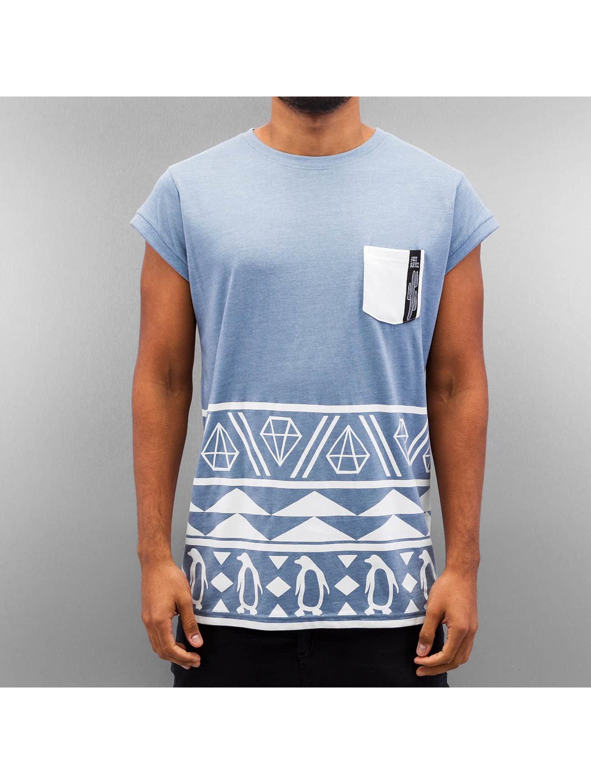 Just Rhyse t-shirt Rusty blauw
