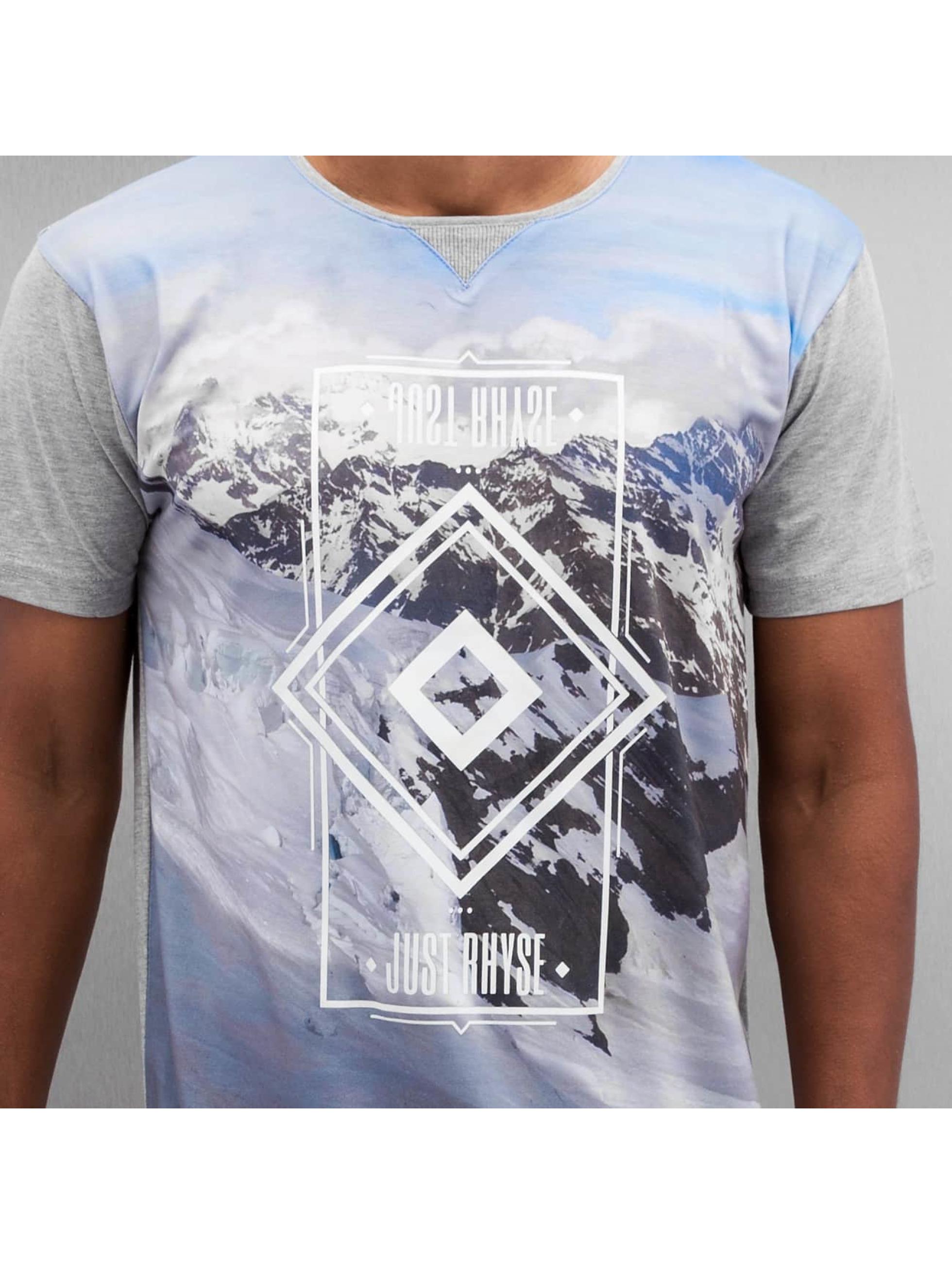 Just Rhyse T-Shirt Mountains grau