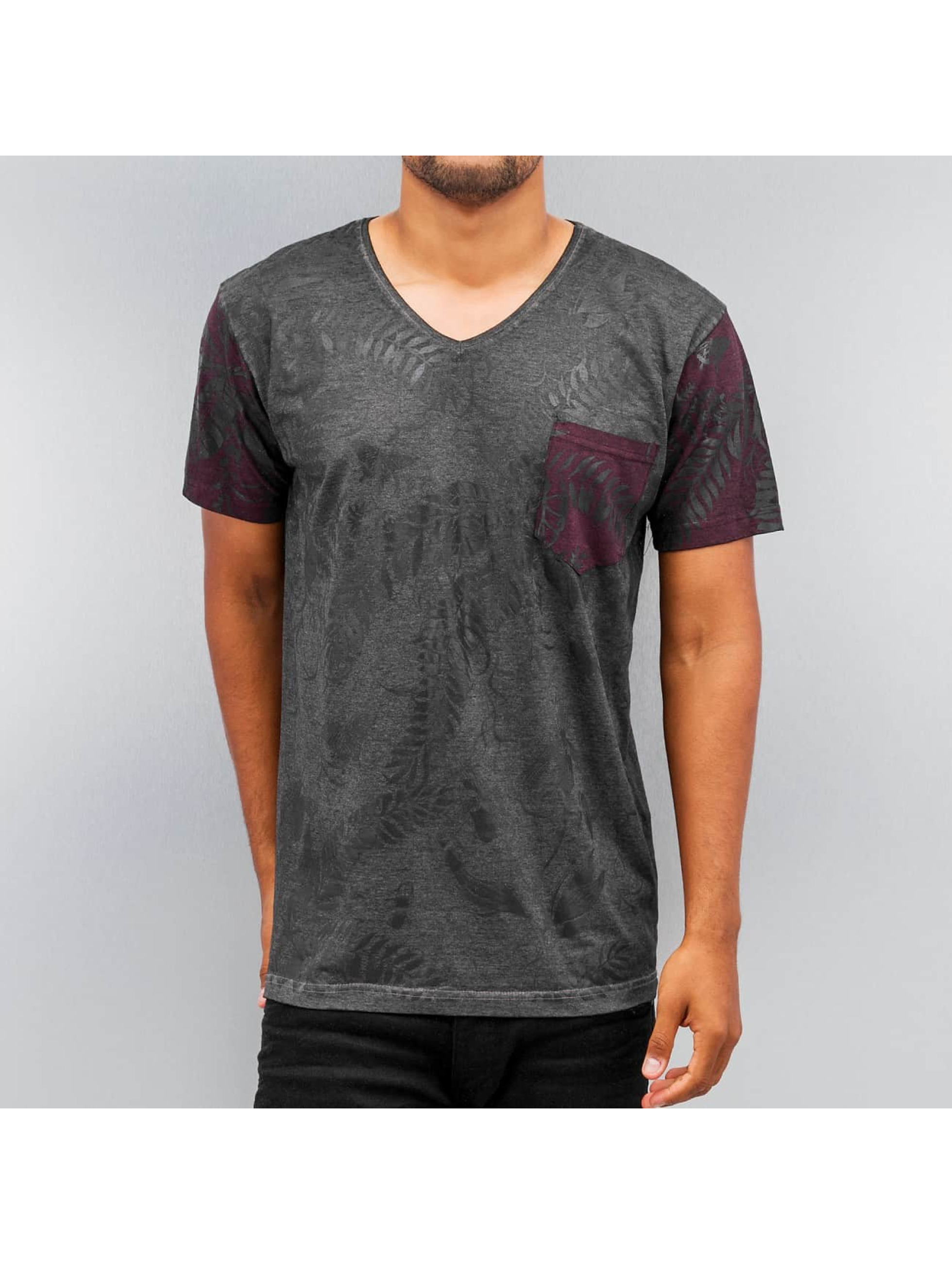 Just Rhyse T-shirt Flower svart