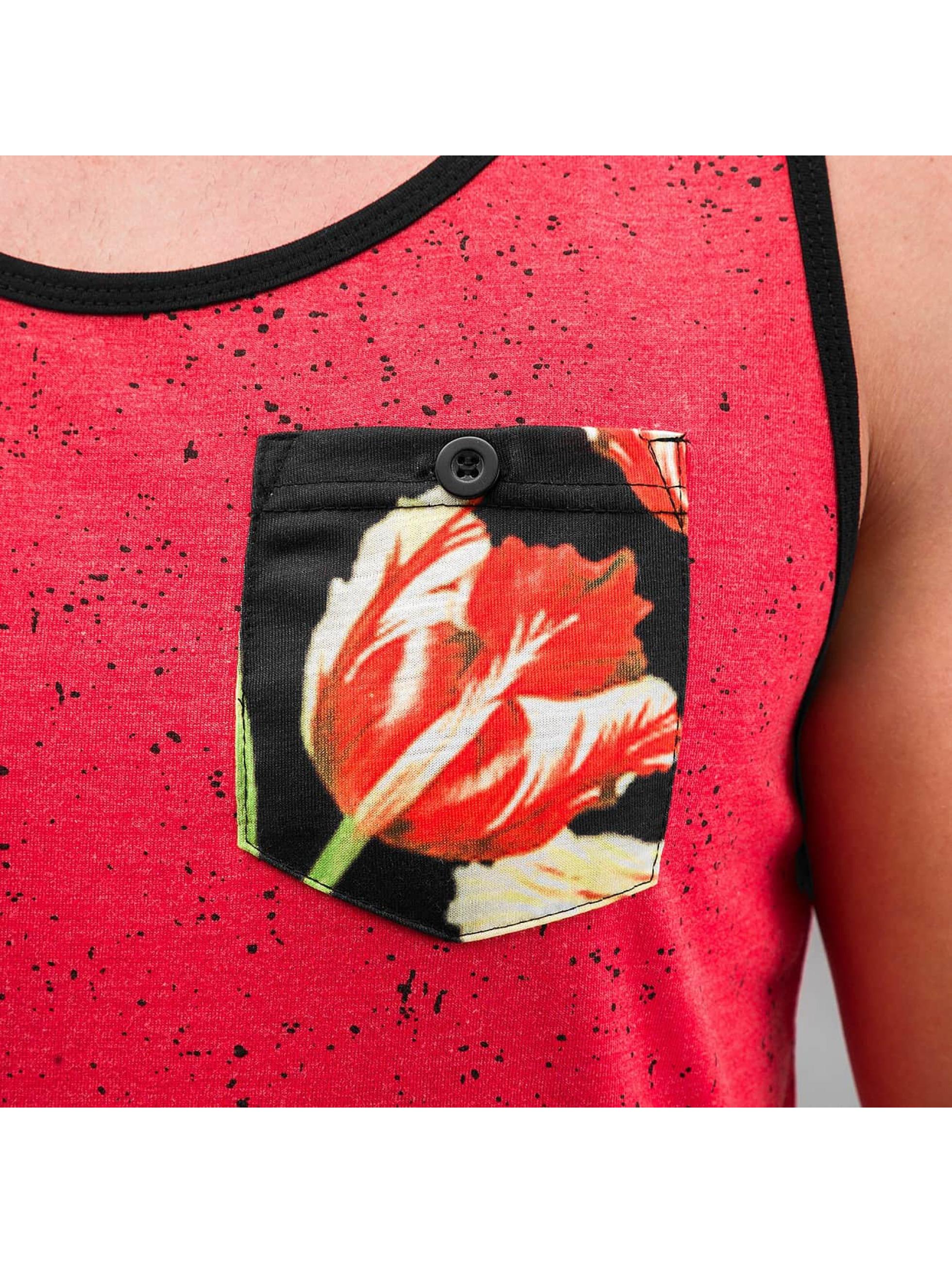 Just Rhyse Tanktop Flower rood