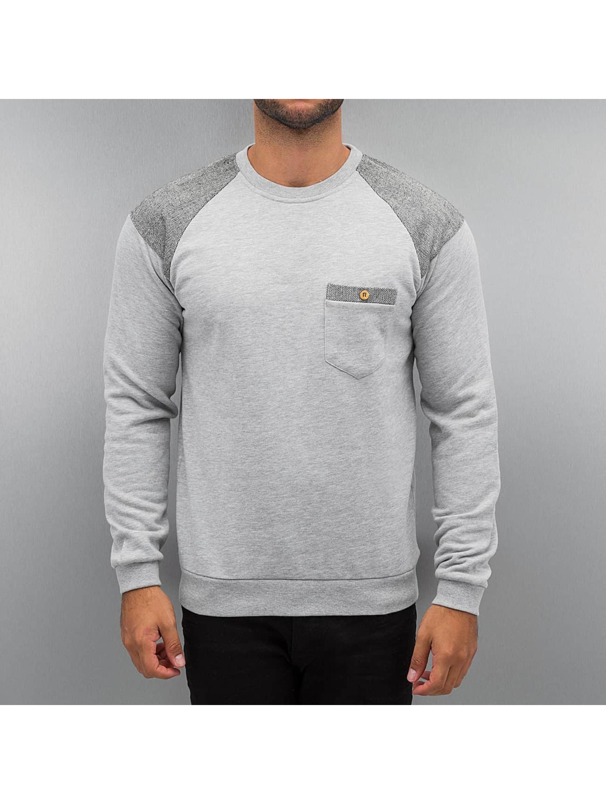 Just Rhyse trui Tweed grijs