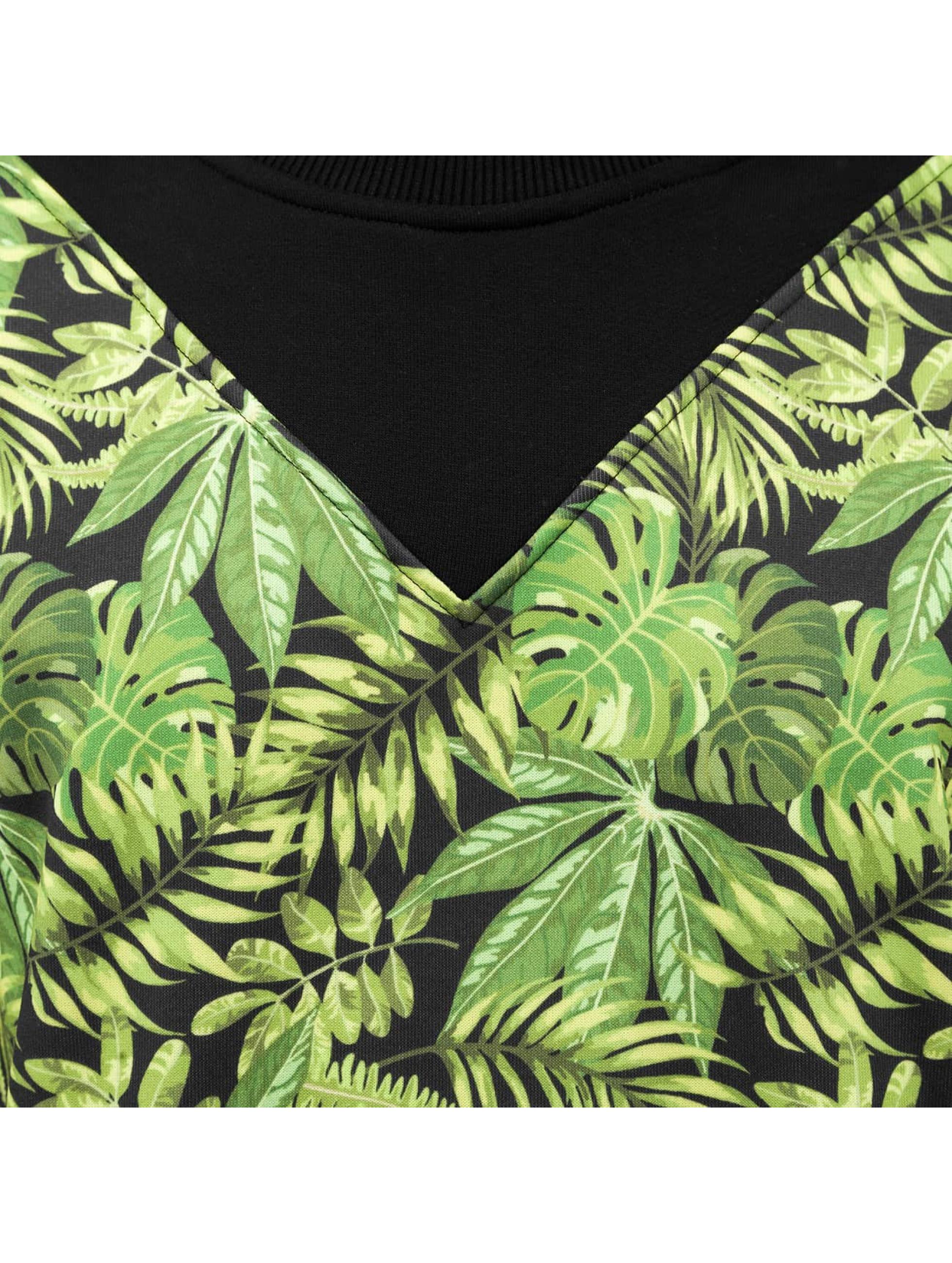 Just Rhyse trui Leaf zwart