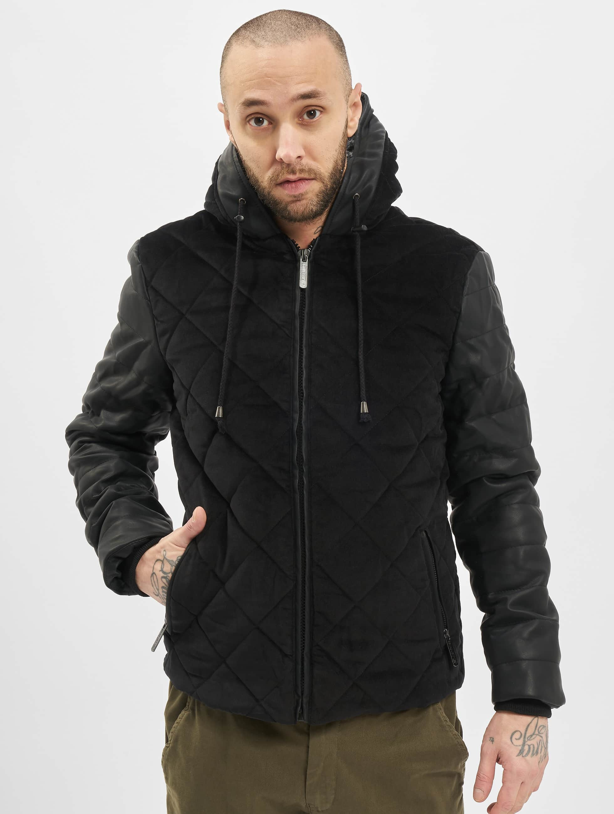 Just Rhyse Winterjacke Quilted schwarz