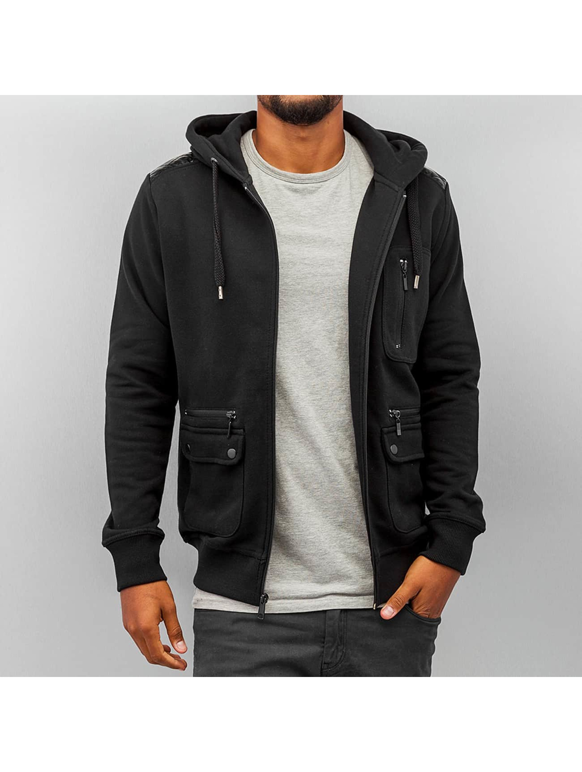 Just Rhyse Zip Hoodie Pocket черный