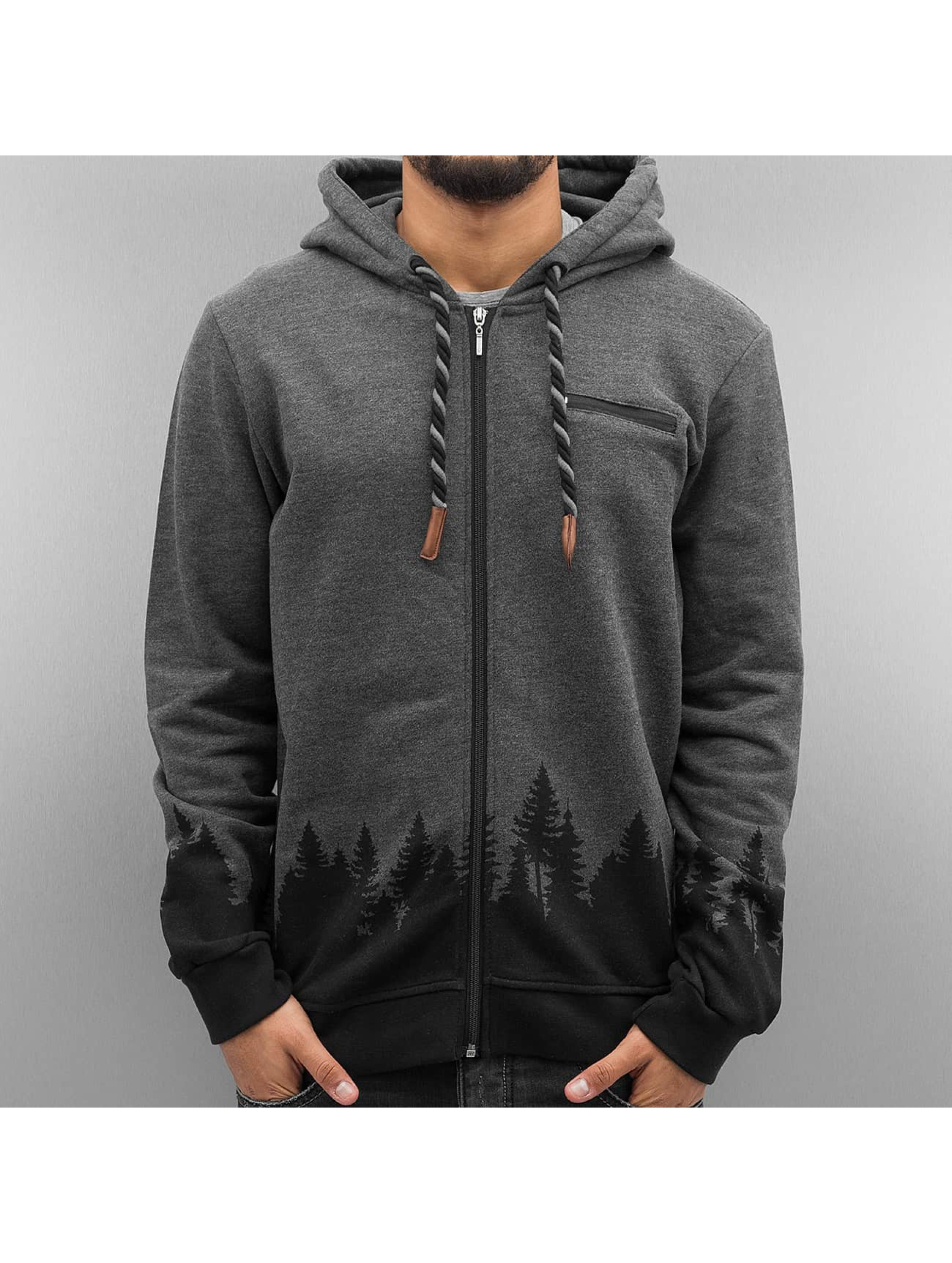 Just Rhyse Zip Hoodie Wood black