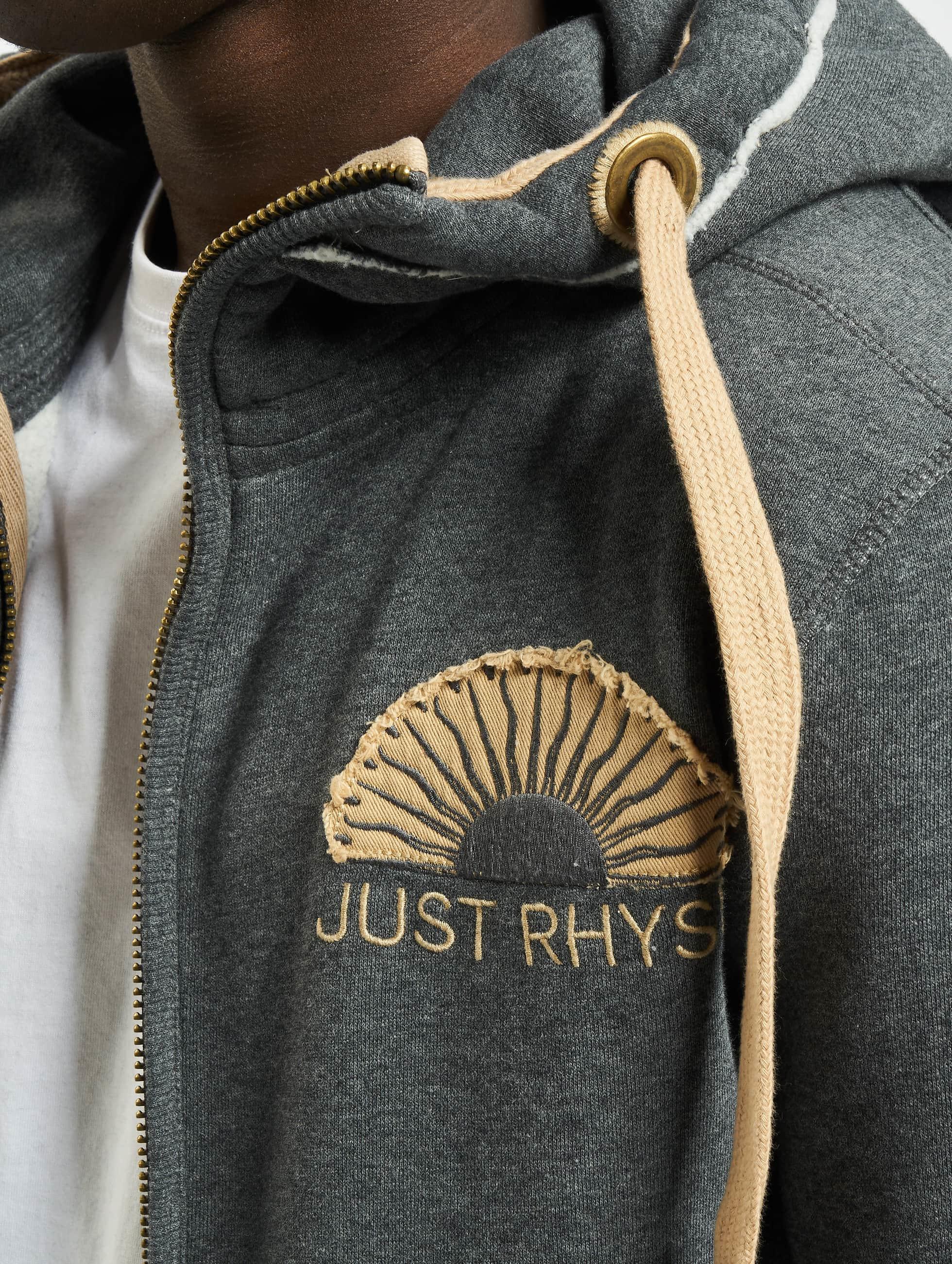 Just Rhyse Zip Hoodie Sun grau