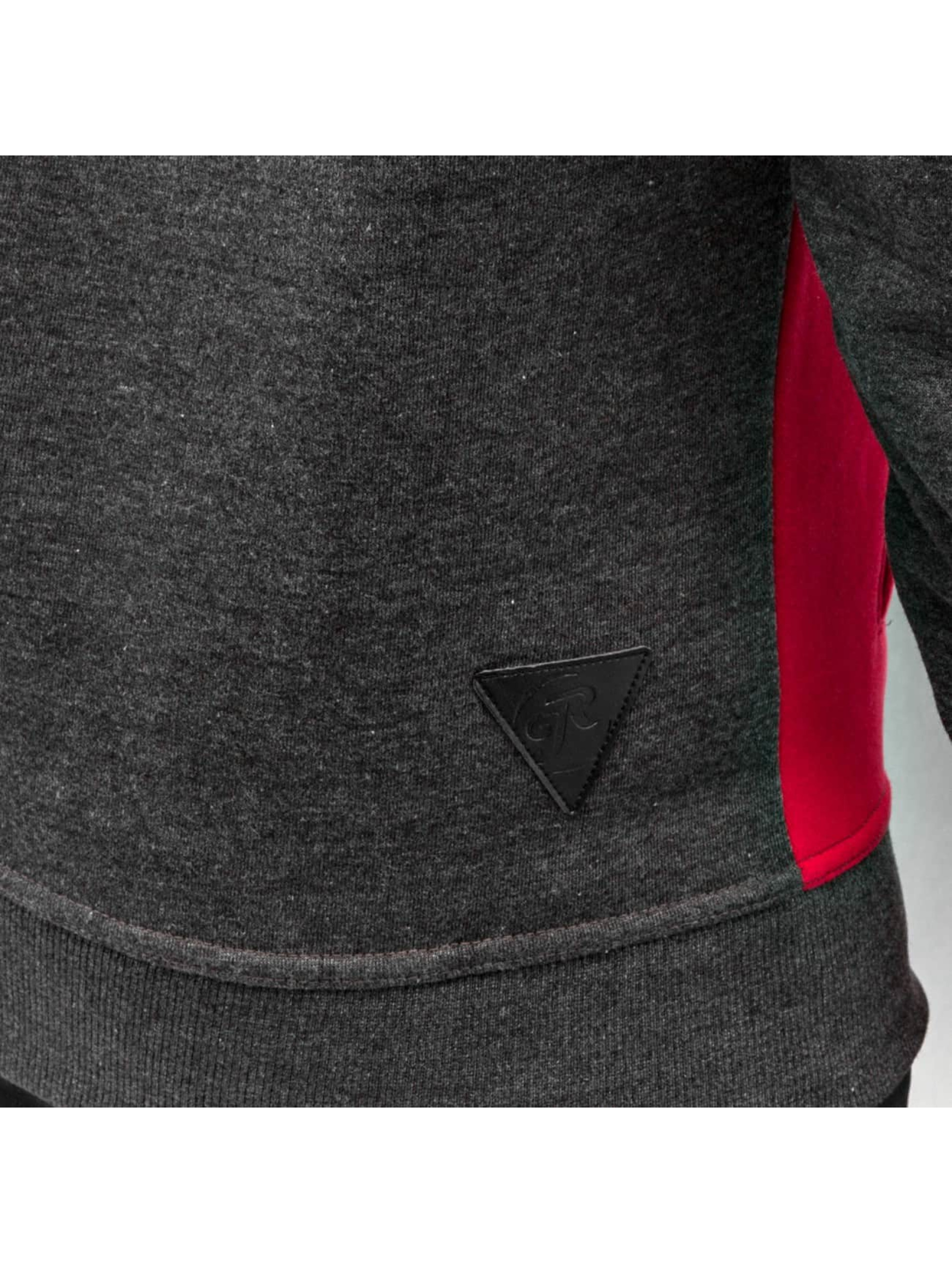 Just Rhyse Zip Hoodie Triangle grau