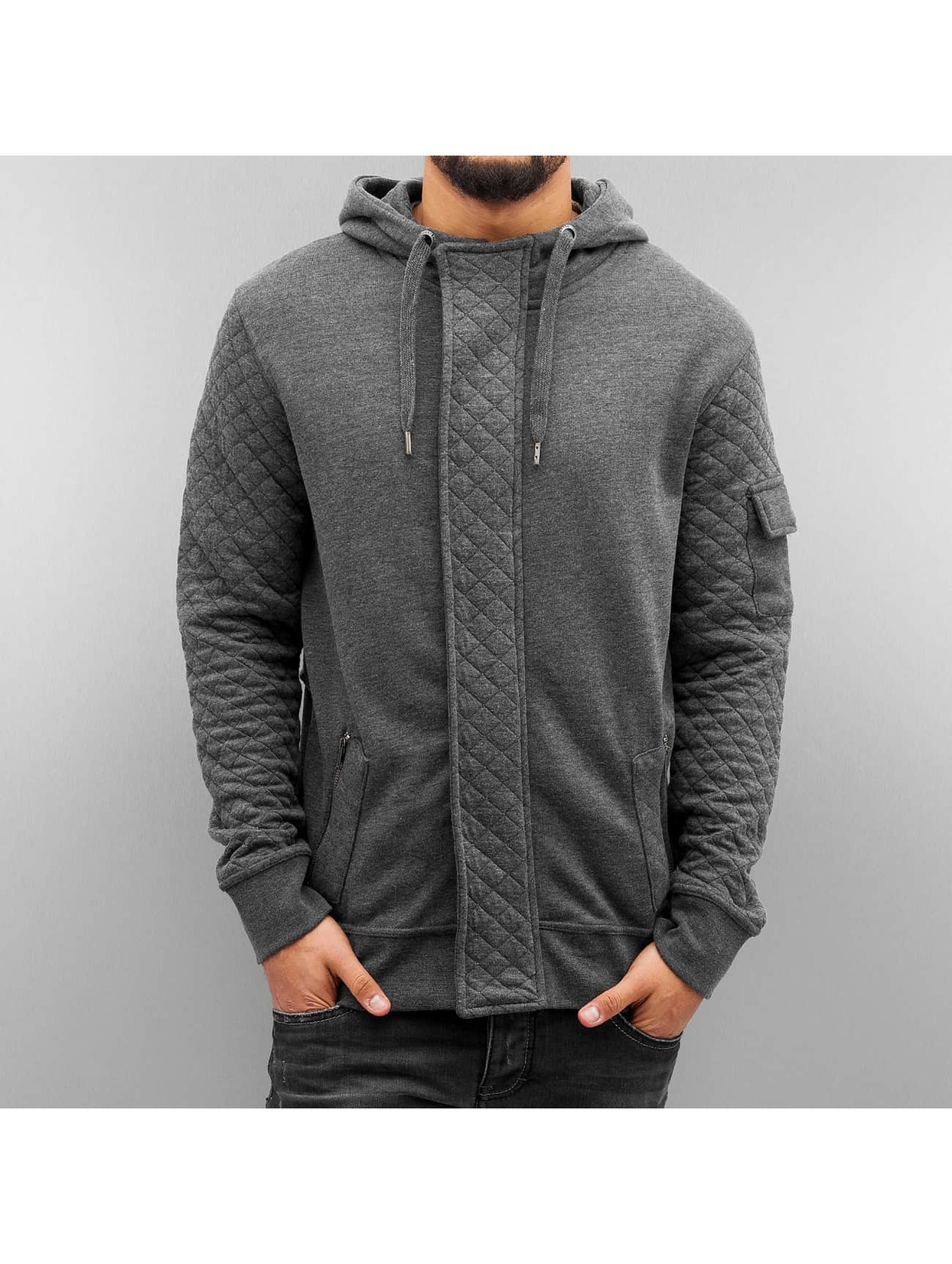 Just Rhyse Zip Hoodie Malina Bay grey
