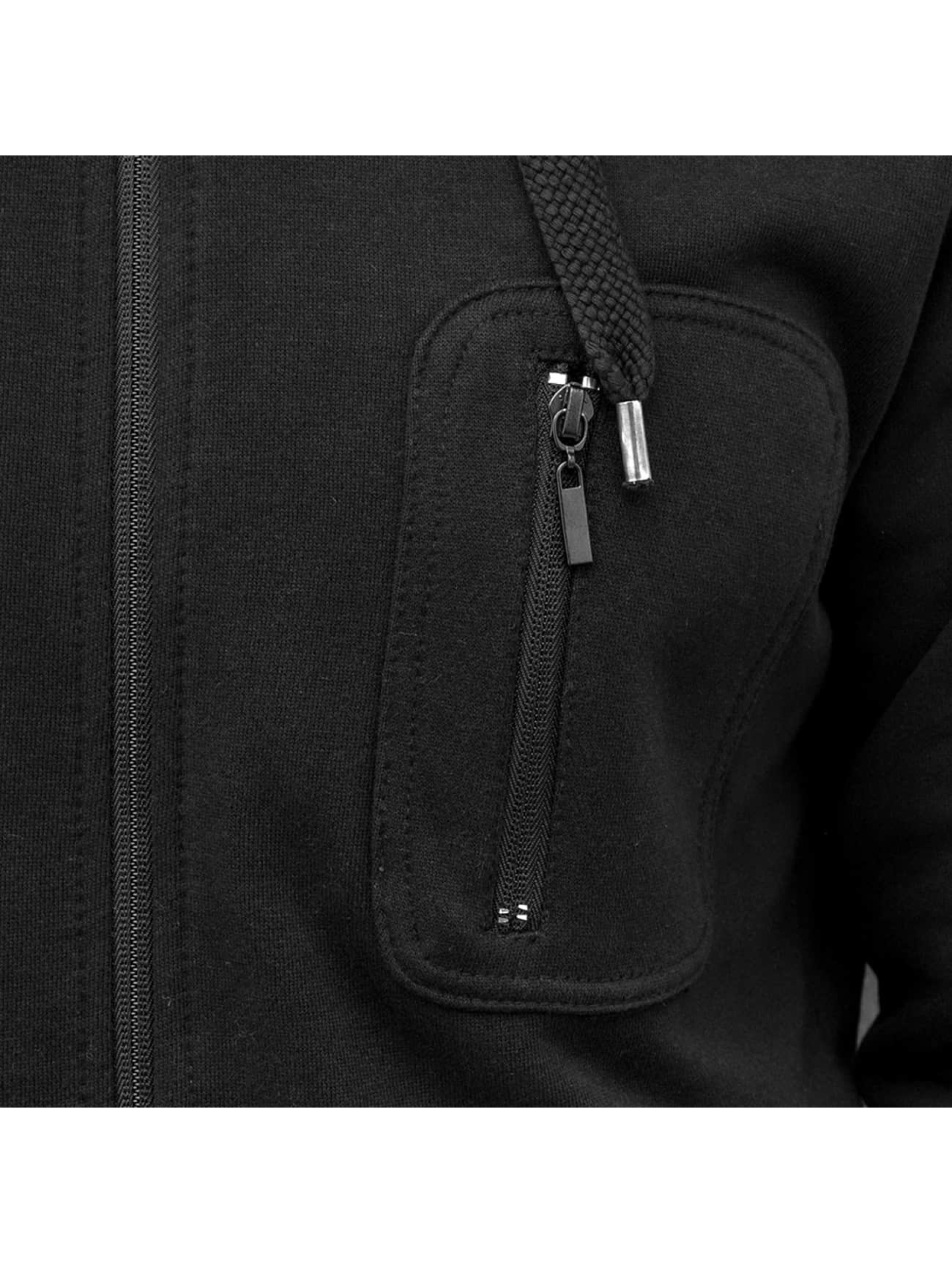 Just Rhyse Zip Hoodie Pocket schwarz