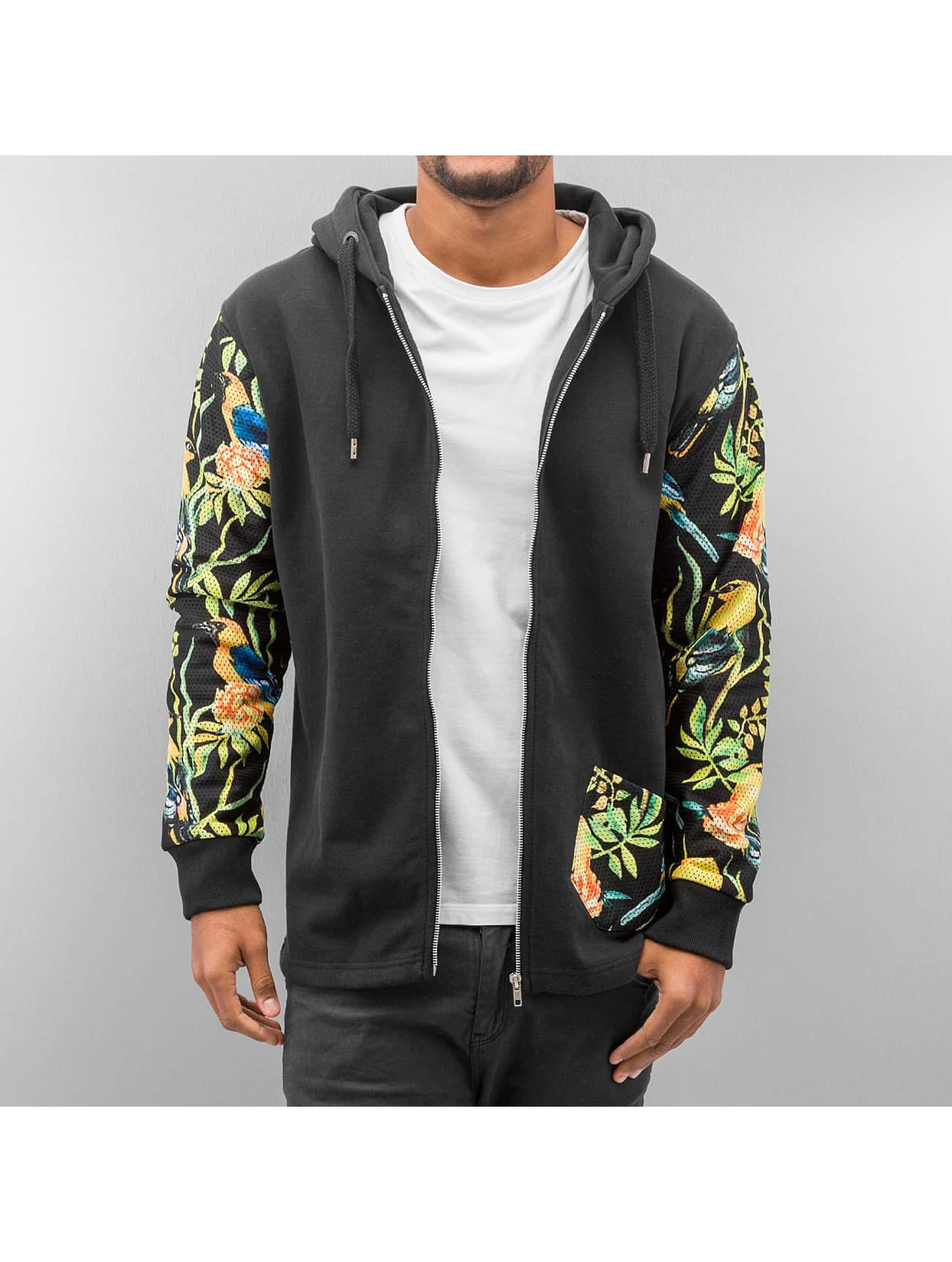 Just Rhyse Zip Hoodie Jungle schwarz