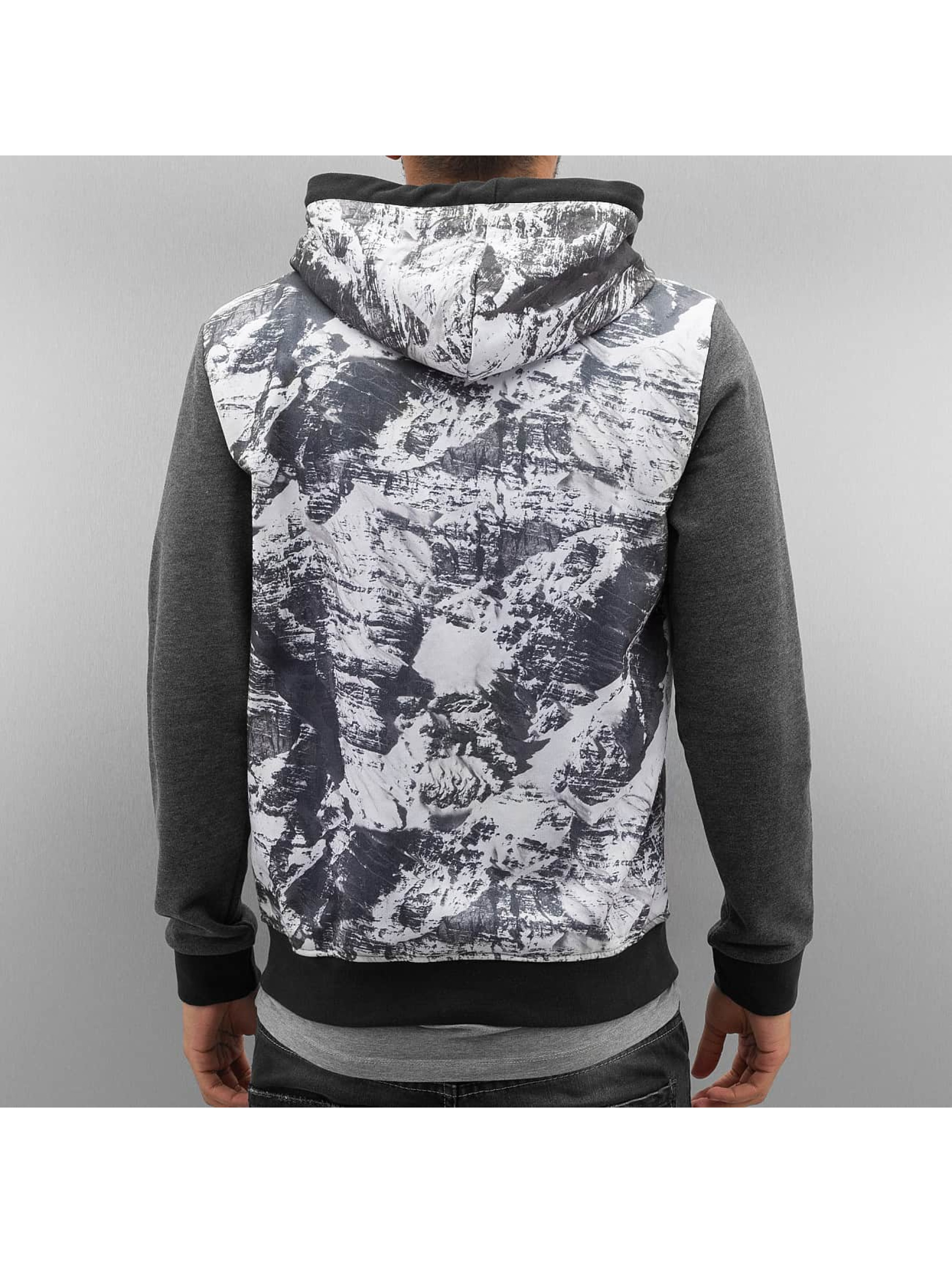 Just Rhyse Zip Hoodie Mountains szary