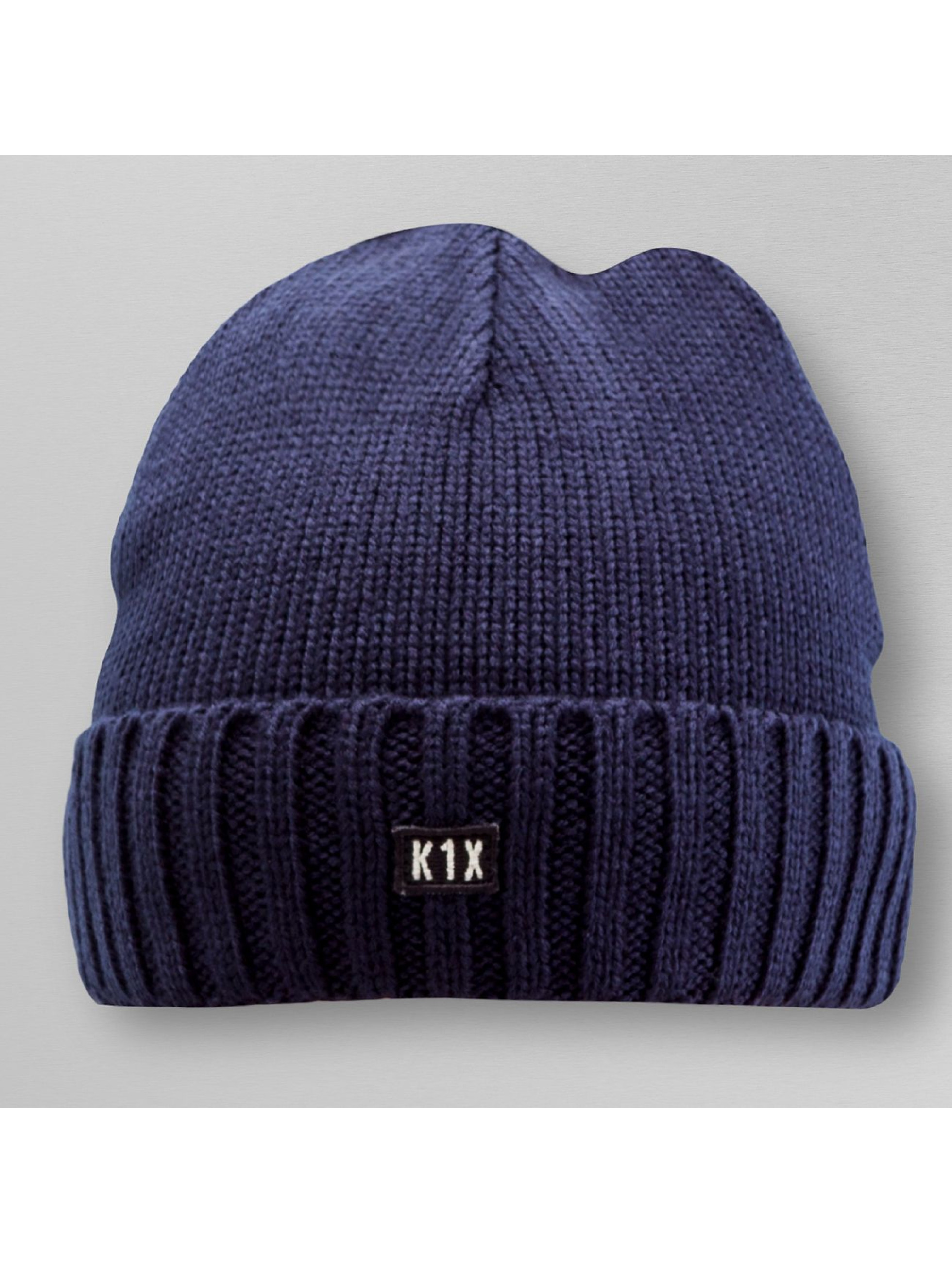 K1X Beanie Authentic Knit blau