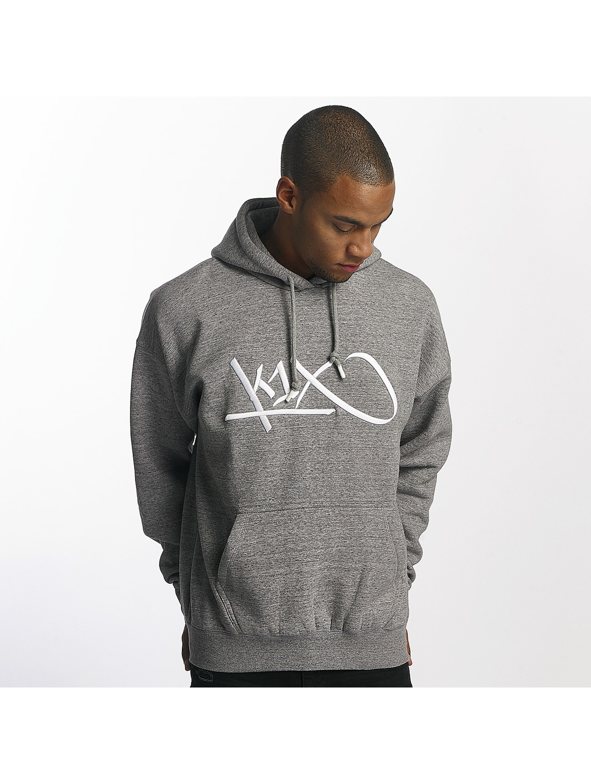 K1X Bluzy z kapturem Ivey Sports Tag szary