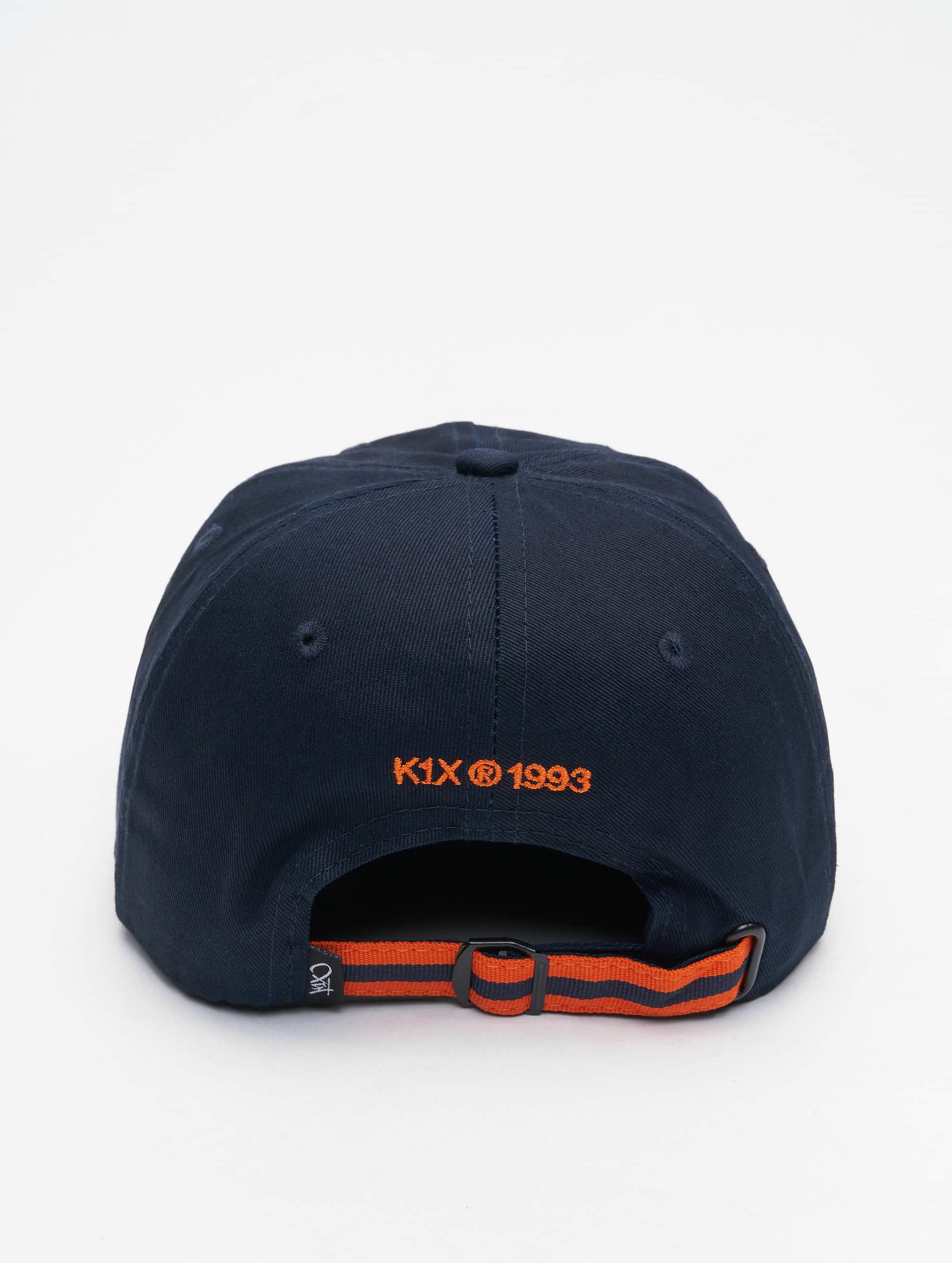 K1X snapback cap Play Hard Basketball Sports blauw